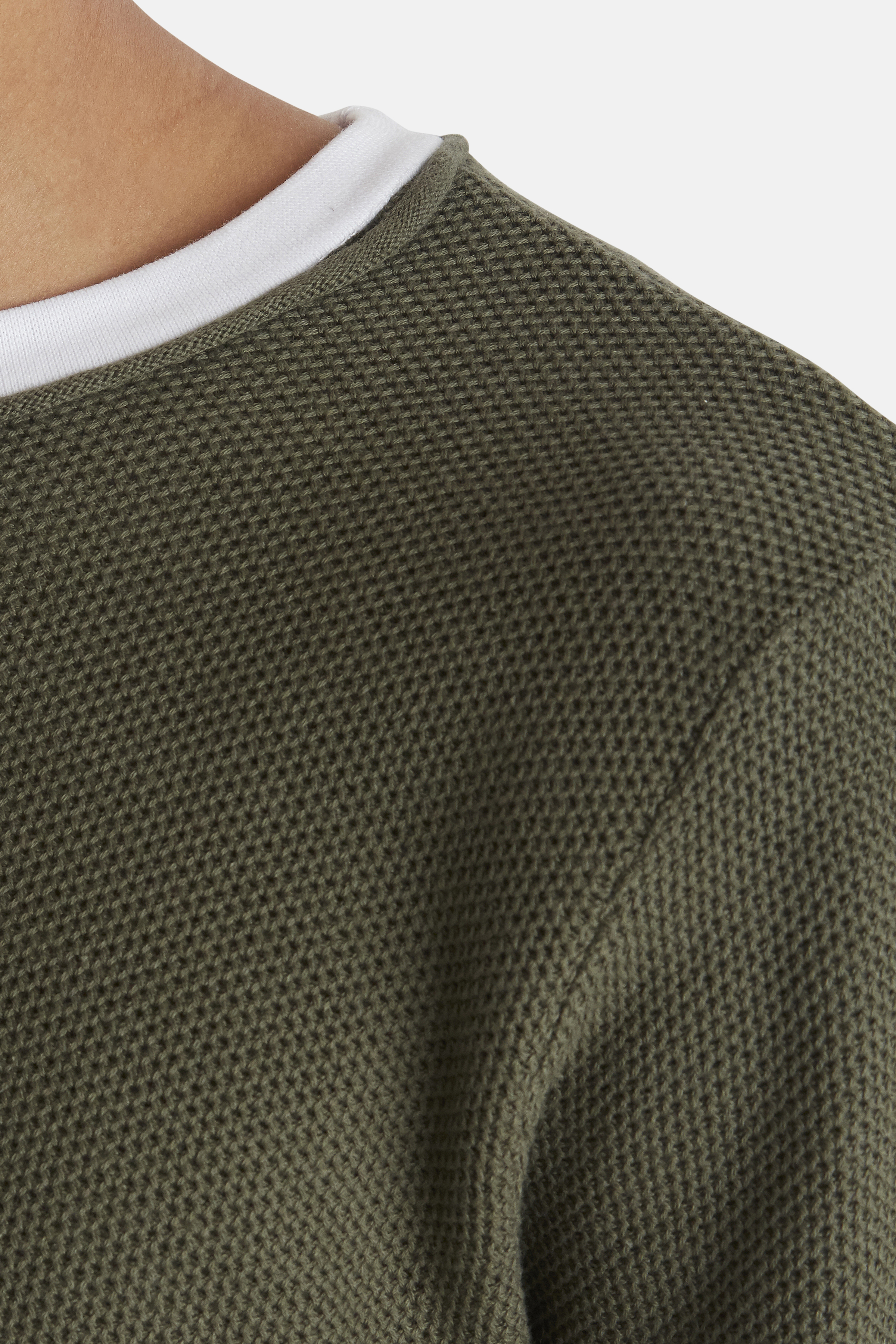 Beetle Green Knitted pullover fra Blend He – Køb Beetle Green Knitted pullover fra str. S-XXL her