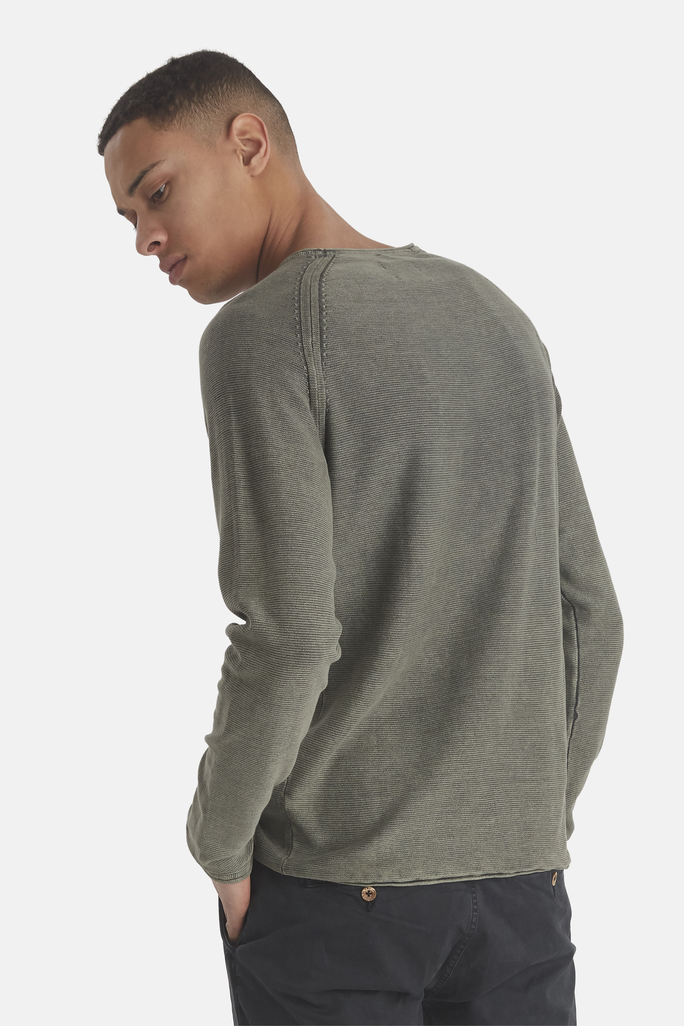 Beetle Green Knitted pullover fra Blend He – Køb Beetle Green Knitted pullover fra str. S-3XL her
