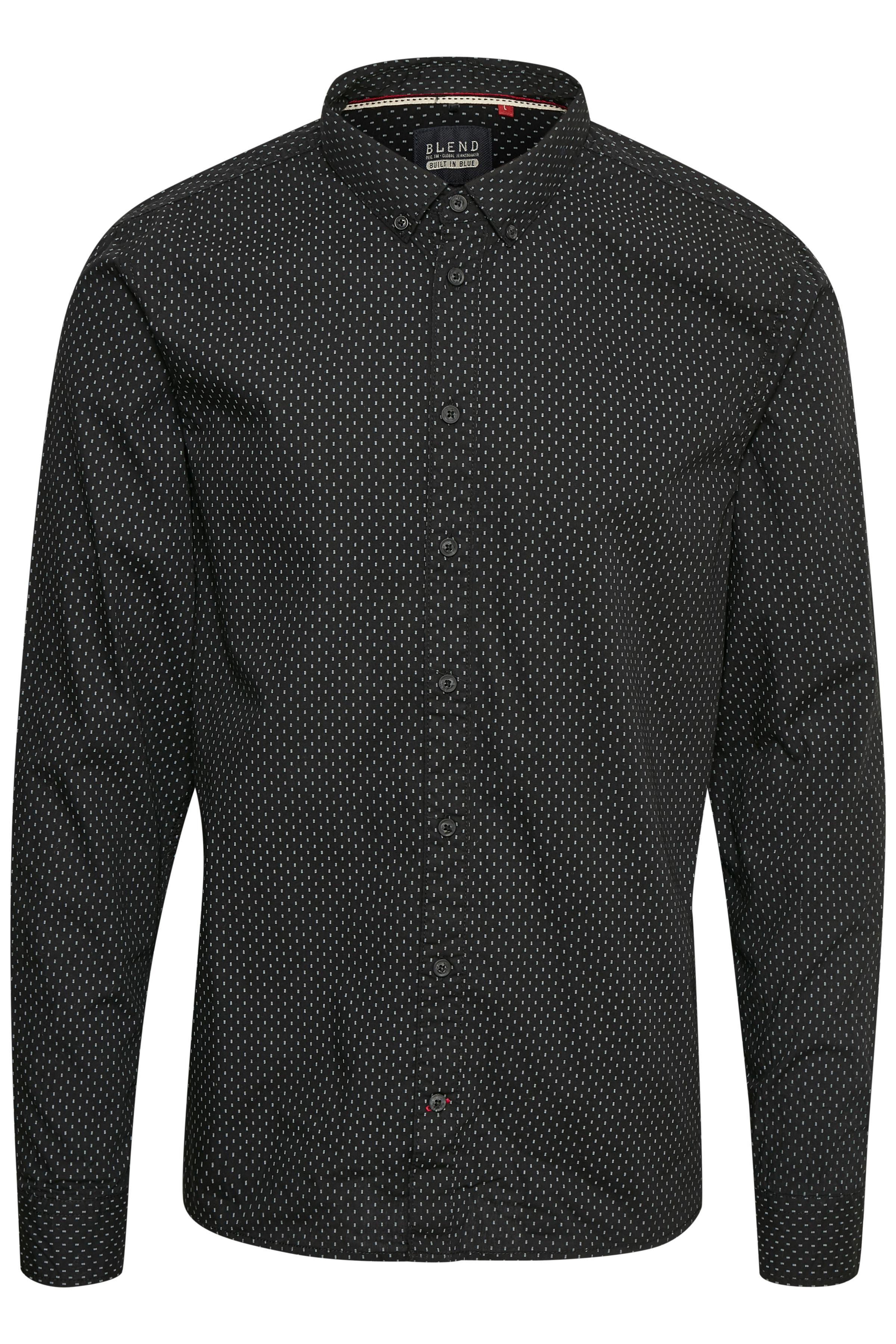 Black Langærmet skjorte – Køb Black Langærmet skjorte fra str. S-3XL her