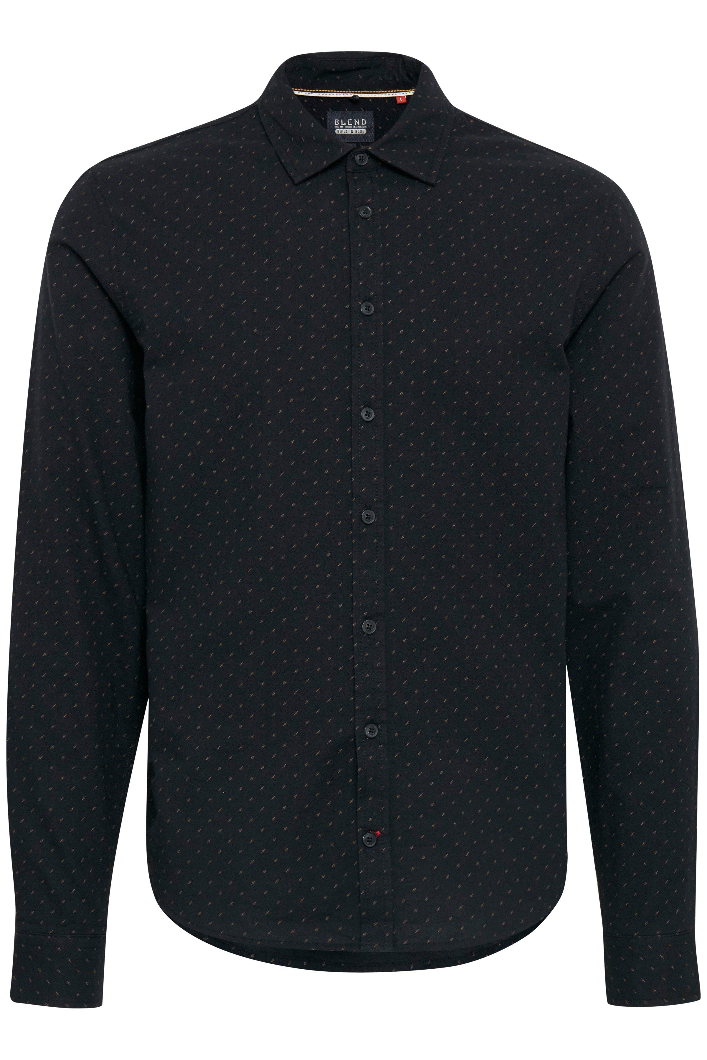 Black Langærmet skjorte – Køb Black Langærmet skjorte fra str. S-XXL her