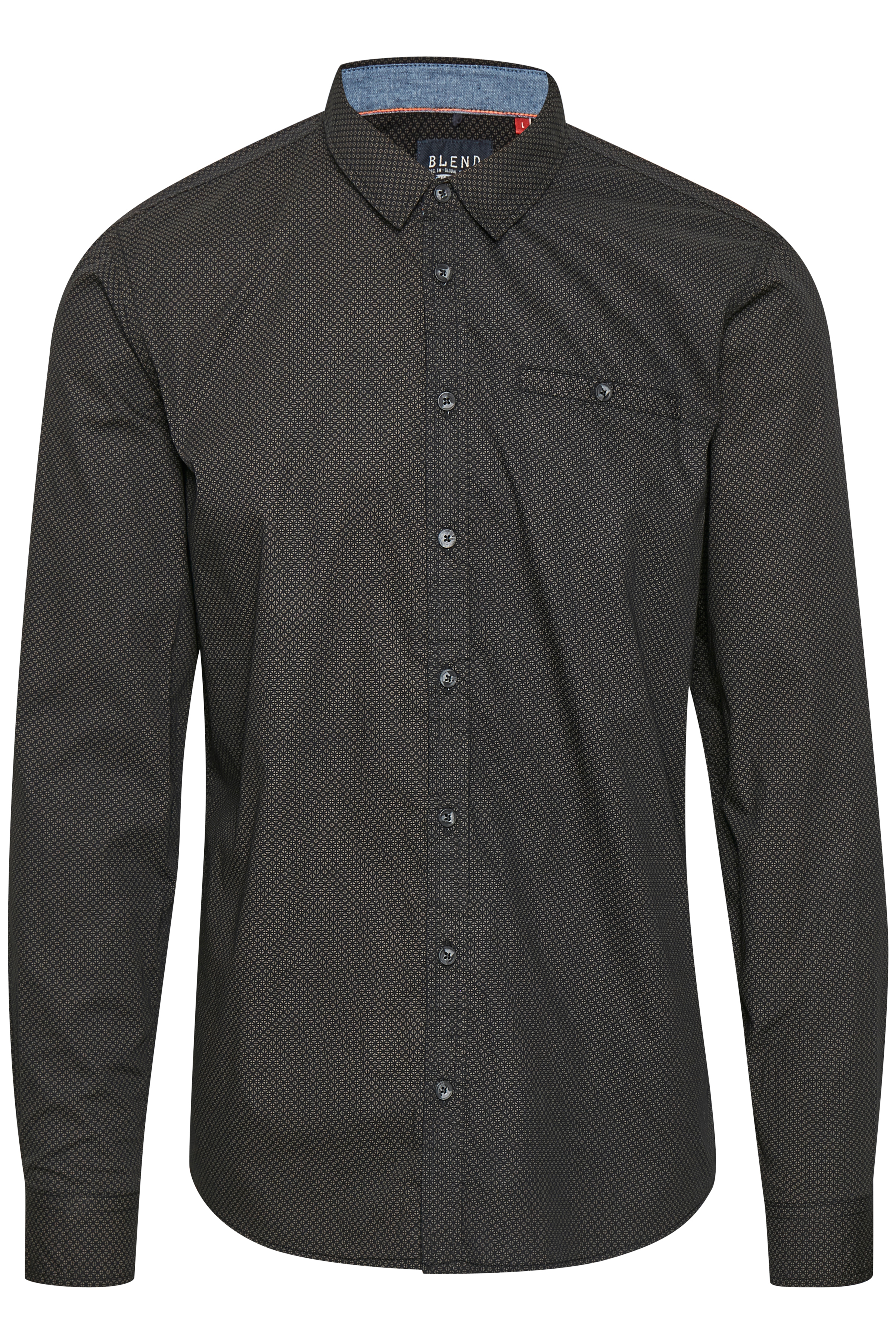 Black Long sleeved shirt fra Blend He – Køb Black Long sleeved shirt fra str. S-XXL her