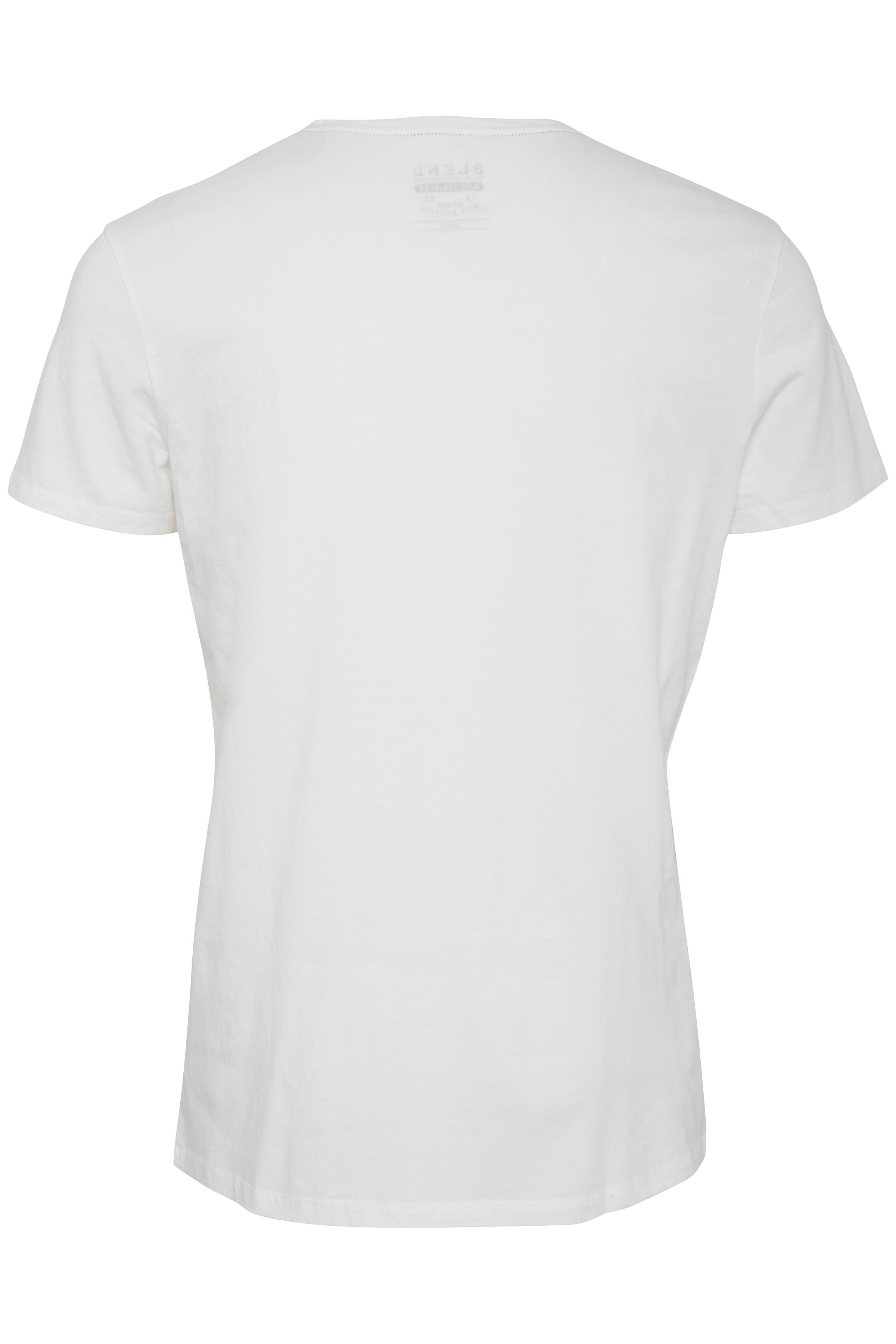 Cream White T-shirt fra Blend He – Køb Cream White T-shirt fra str. S-XXL her
