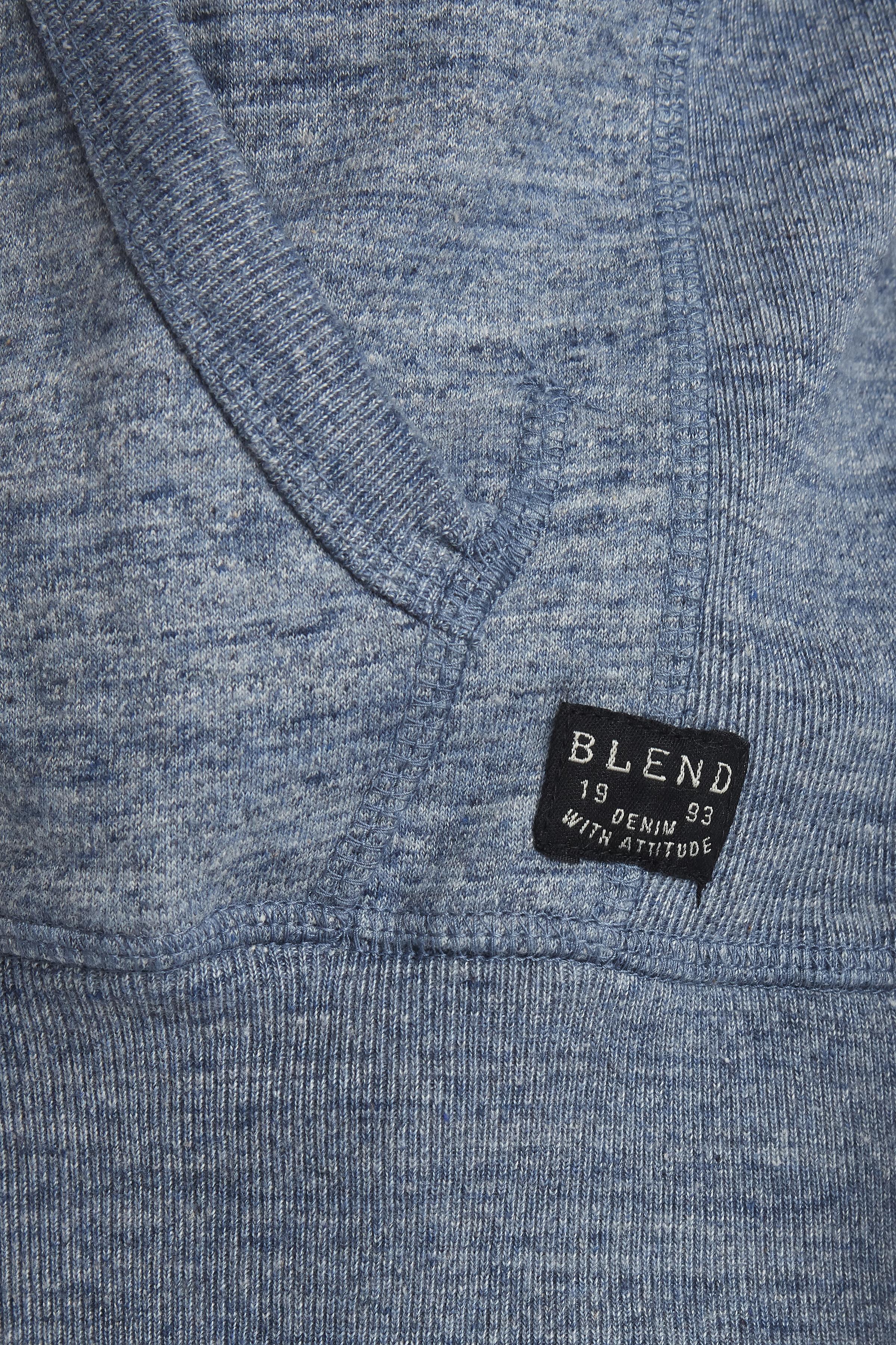 Dark Navy Blue Hooded blouse fra Blend He – Køb Dark Navy Blue Hooded blouse fra str. S-3XL her