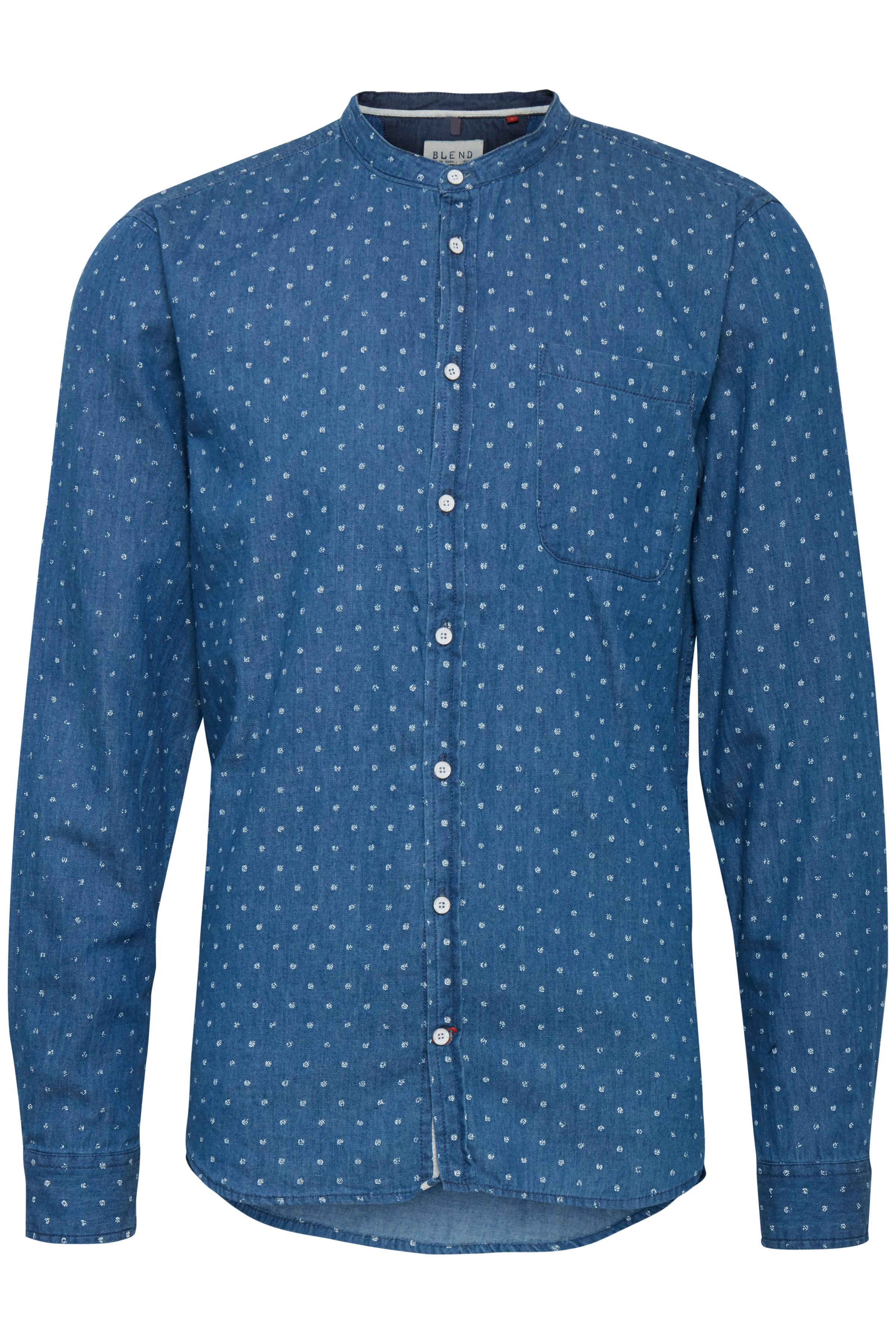 Dark Navy Blue Langærmet skjorte – Køb Dark Navy Blue Langærmet skjorte fra str. S-XL her