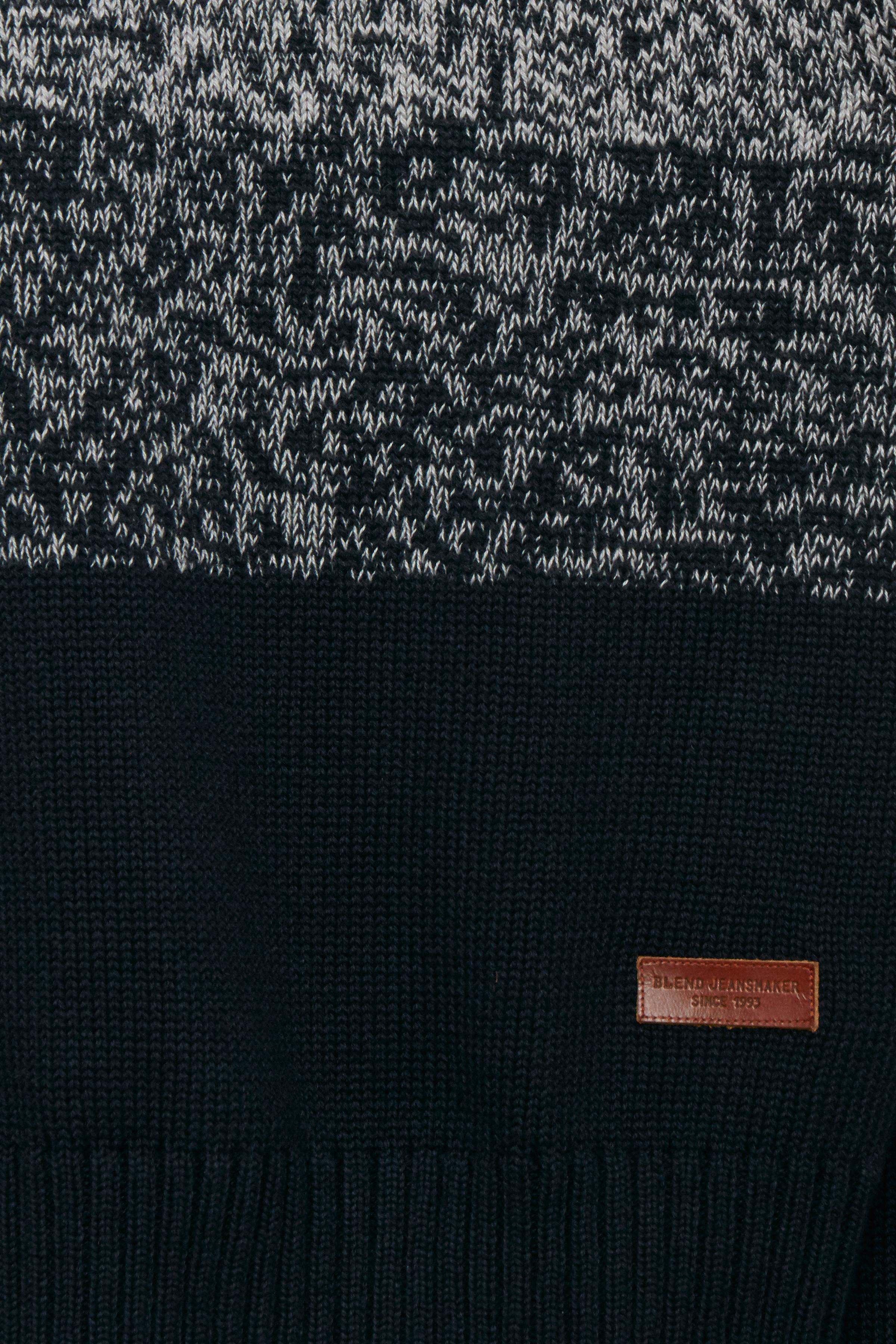 Dark Navy Blue Strikpullover – Køb Dark Navy Blue Strikpullover fra str. S-XXL her