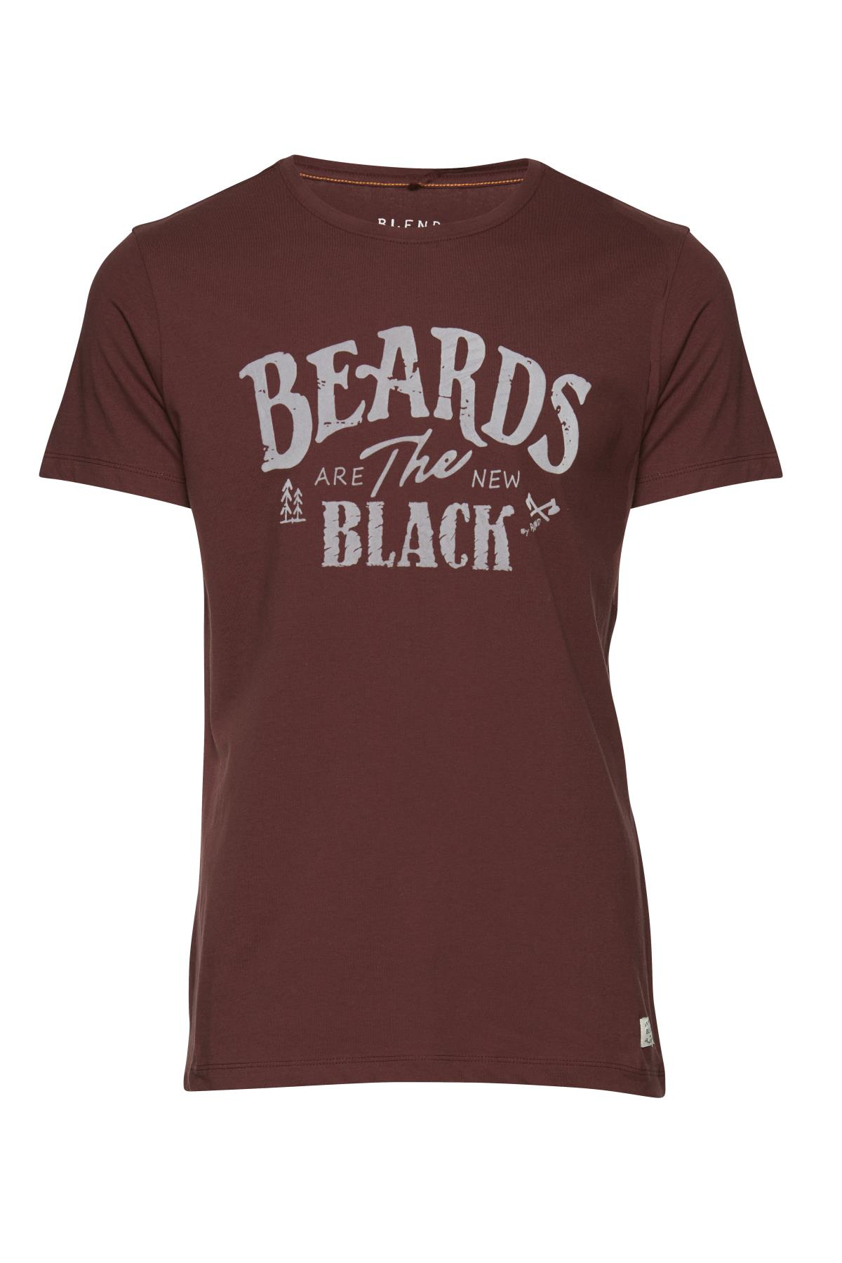 Deep Red T-shirt fra Blend He – Køb Deep Red T-shirt fra str. S-XL her