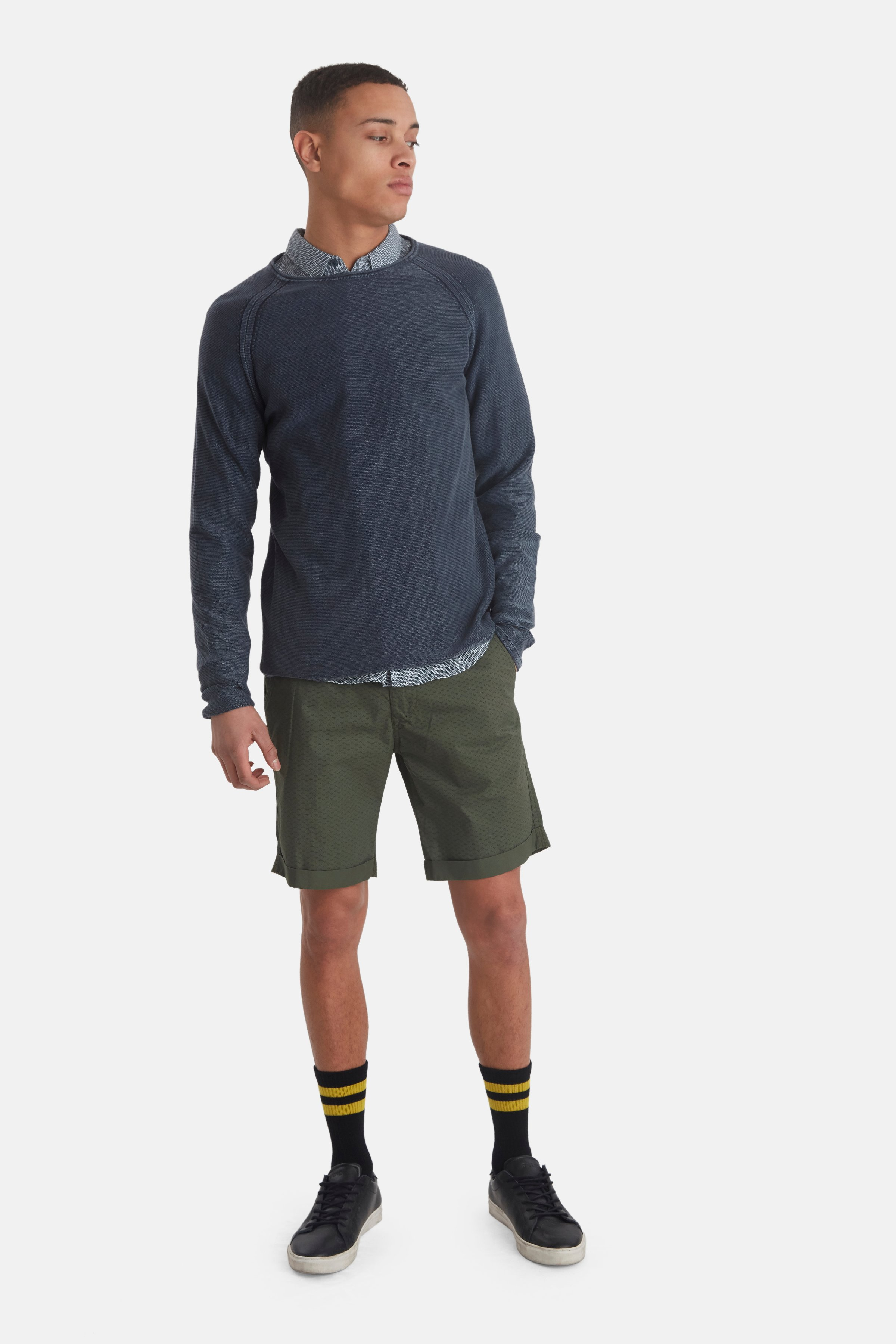 Denim Blue Knitted pullover fra Blend He – Køb Denim Blue Knitted pullover fra str. S-3XL her