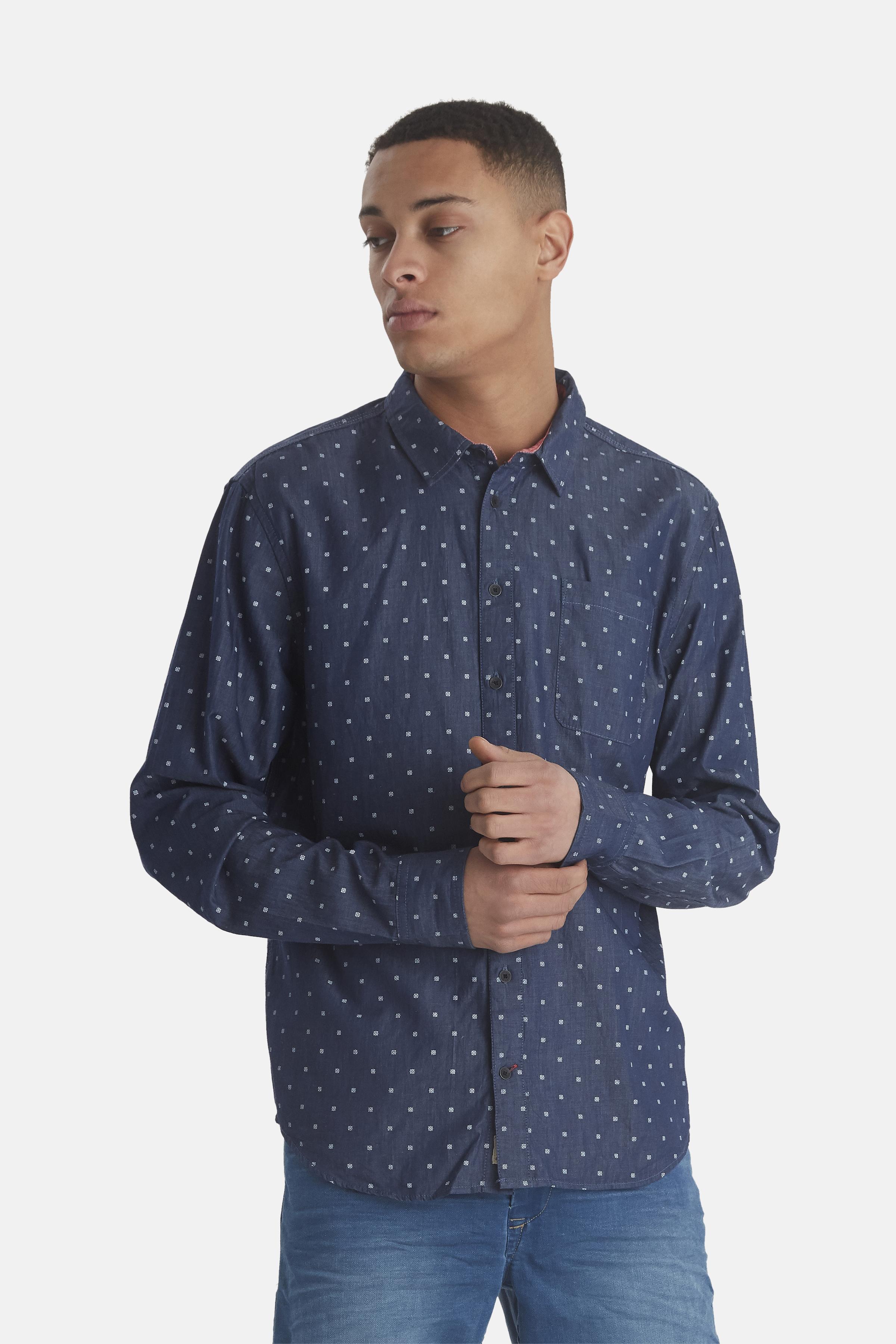 Denim Blue Langærmet skjorte – Køb Denim Blue Langærmet skjorte fra str. M-XXL her