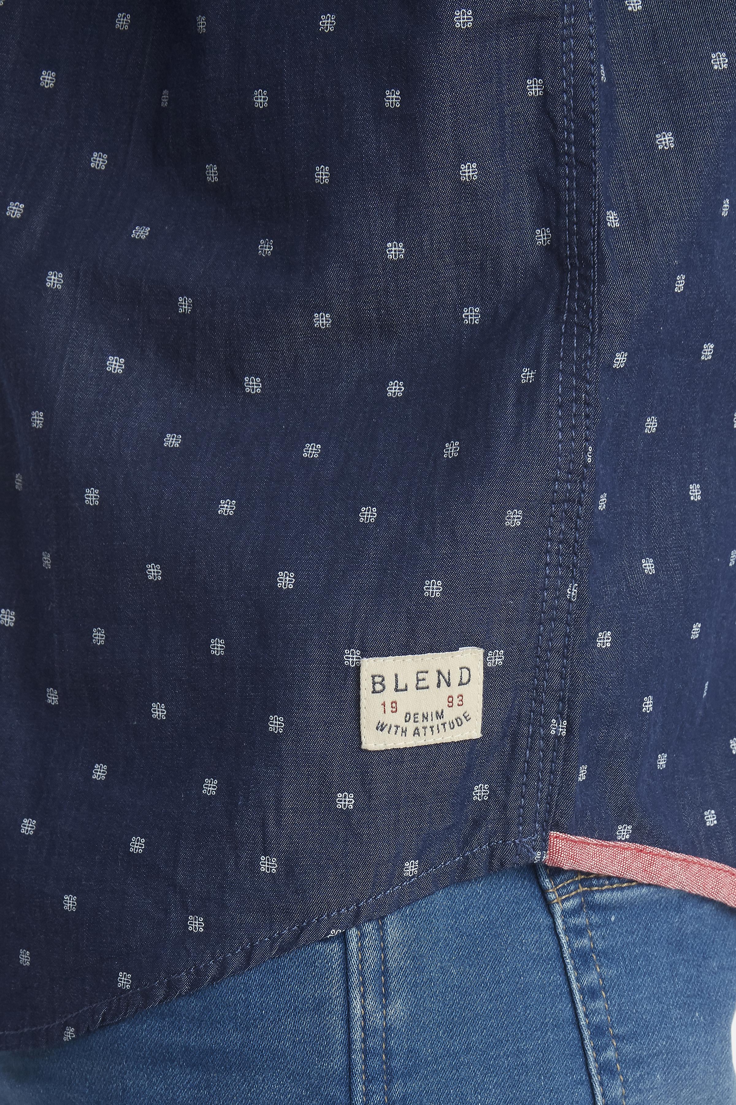 Denim Blue Long sleeved shirt fra Blend He – Køb Denim Blue Long sleeved shirt fra str. M-XXL her