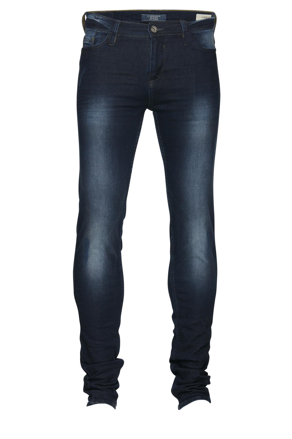 Denim darkblue Cirrus jeans fra Blend He – Køb Denim darkblue Cirrus jeans fra str. 25-40 her