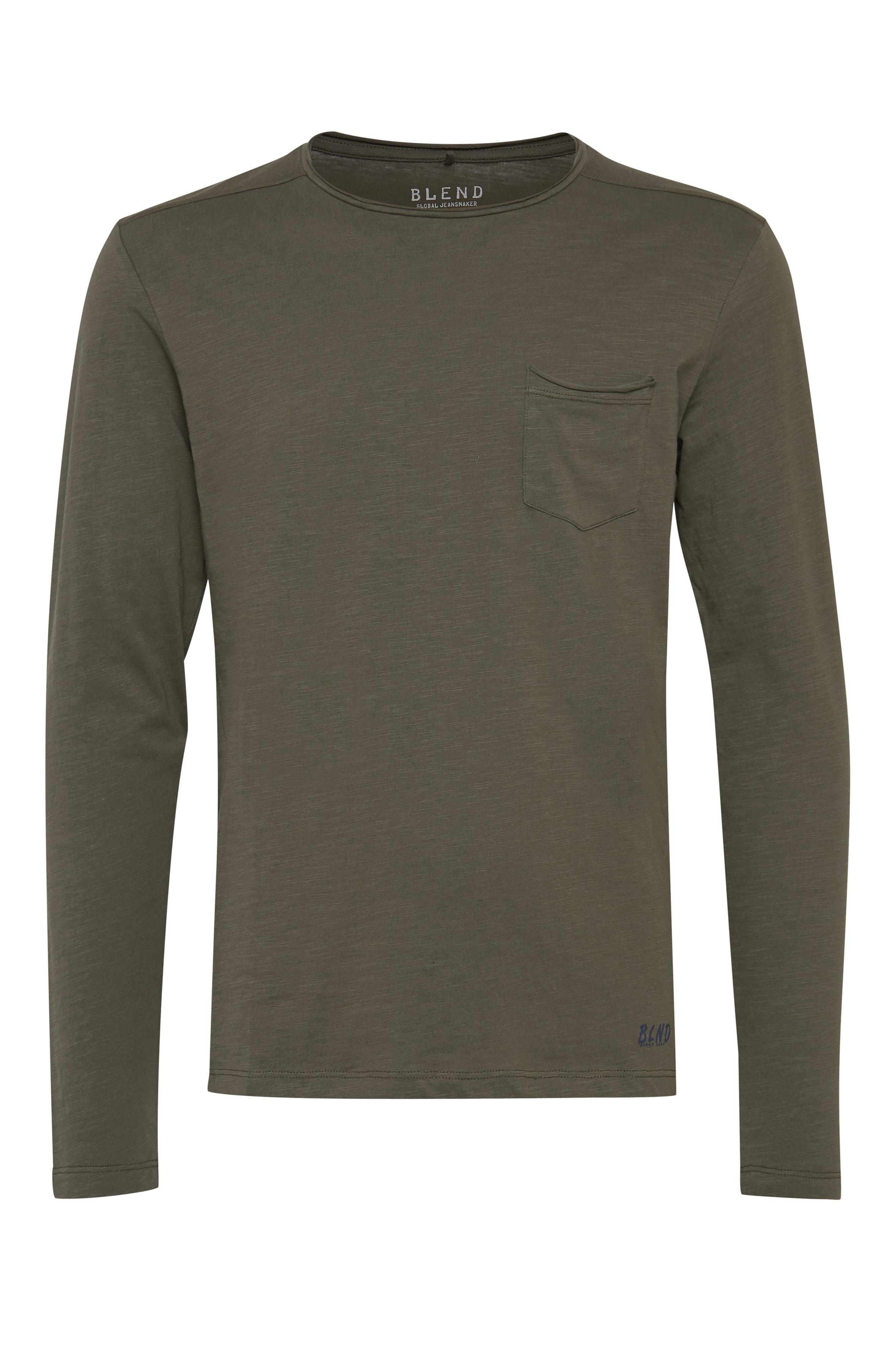 Dusty green Langærmet T-shirt – Køb Dusty green Langærmet T-shirt fra str. S-3XL her