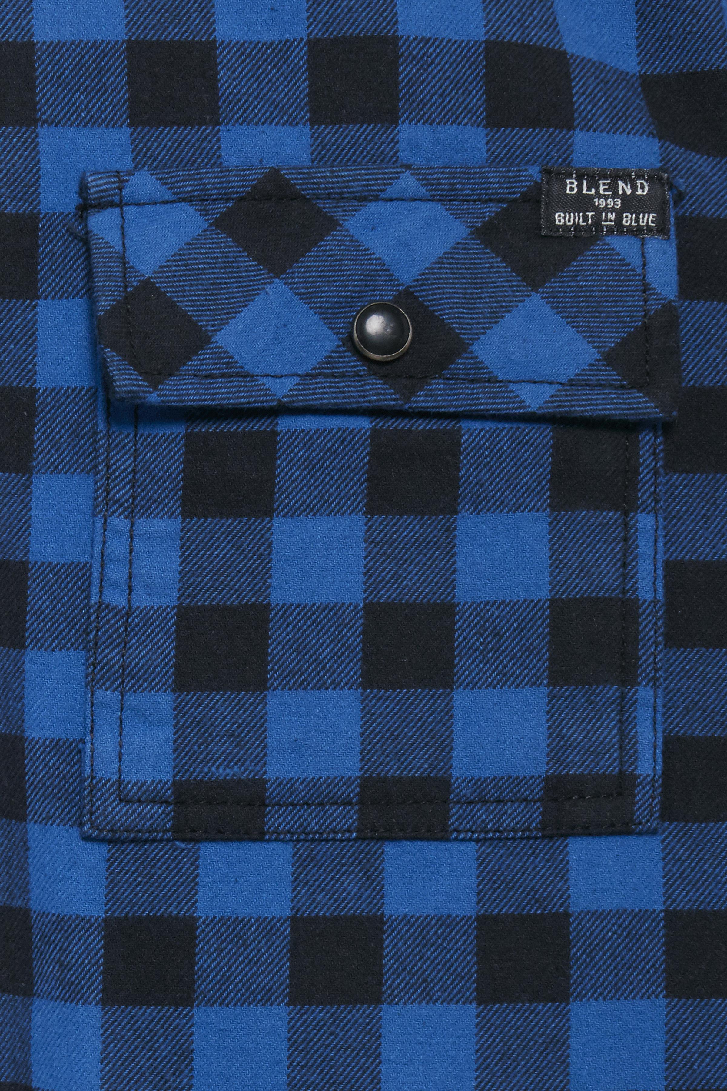 Electric Blue Long sleeved shirt fra Blend He – Køb Electric Blue Long sleeved shirt fra str. S-XL her