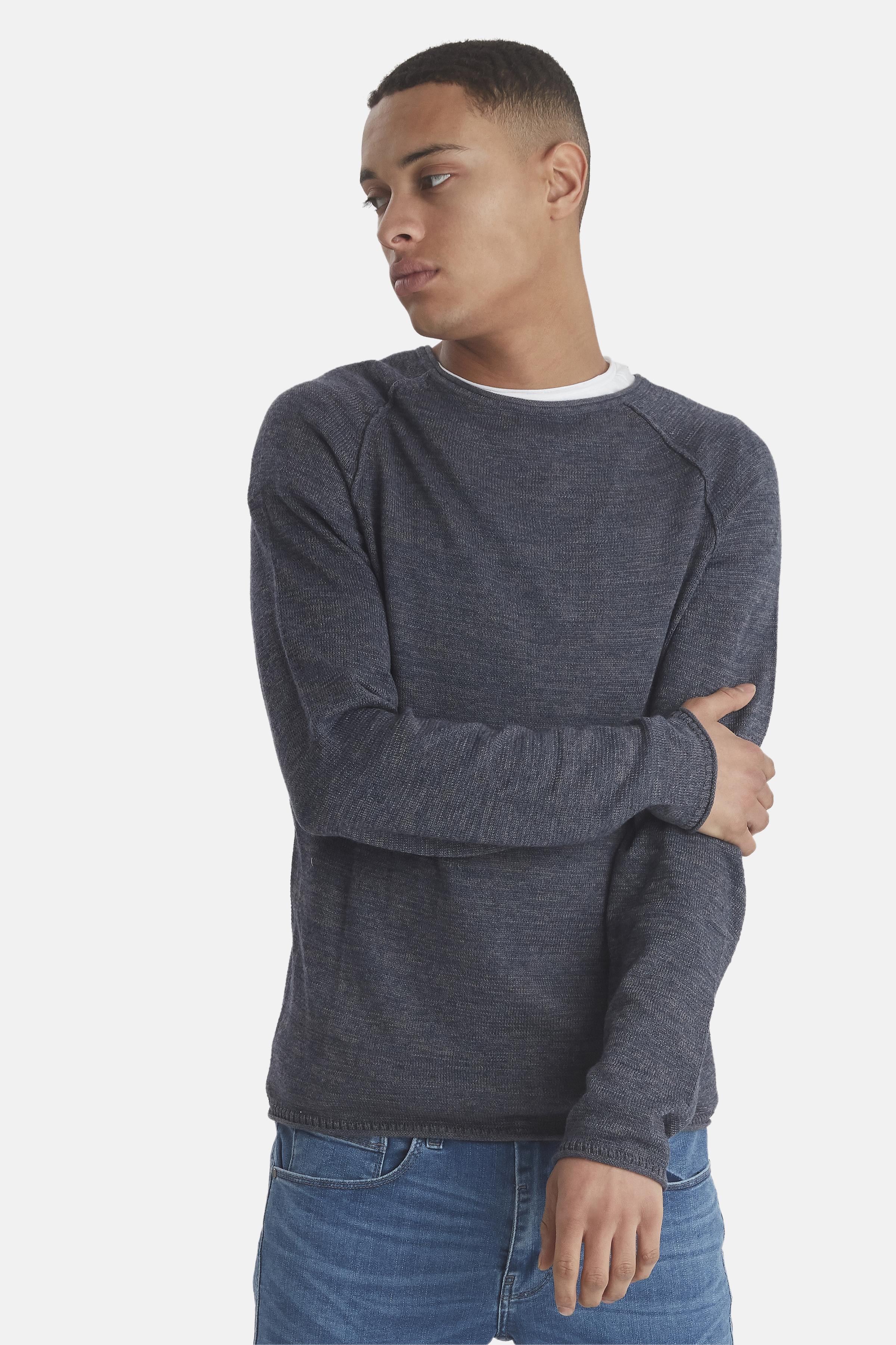 Ensign blue Knitted pullover fra Blend He – Køb Ensign blue Knitted pullover fra str. S-XXL her