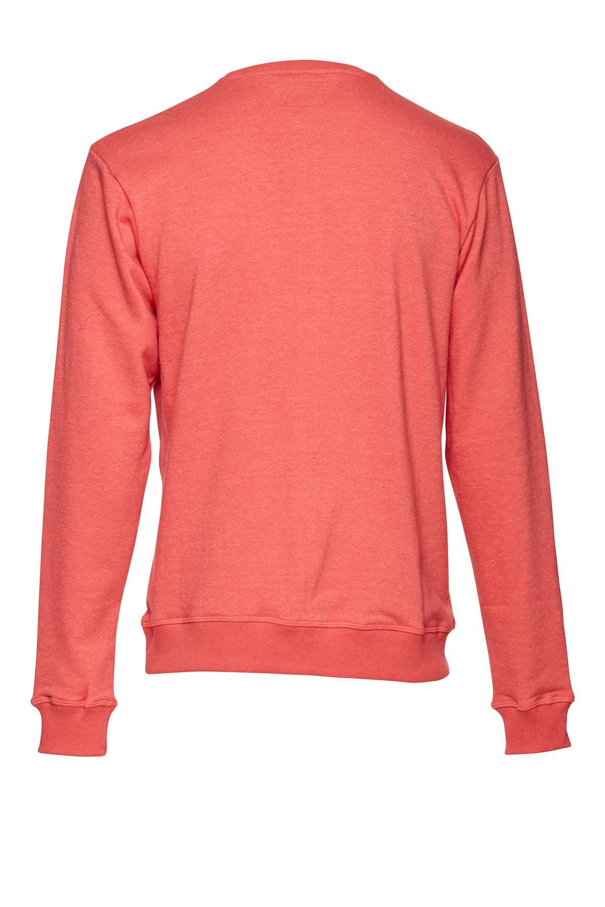 Koralrød Sweatshirt – Køb Koralrød Sweatshirt fra str. S-XL her