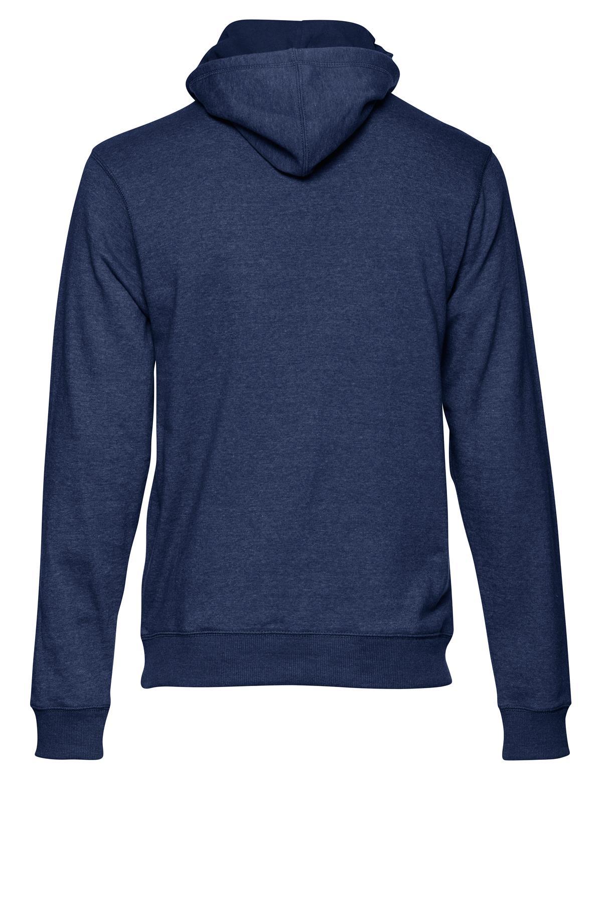 Marineblå Hættebluse med lynlås – Køb Marineblå Hættebluse med lynlås fra str. S-XL her
