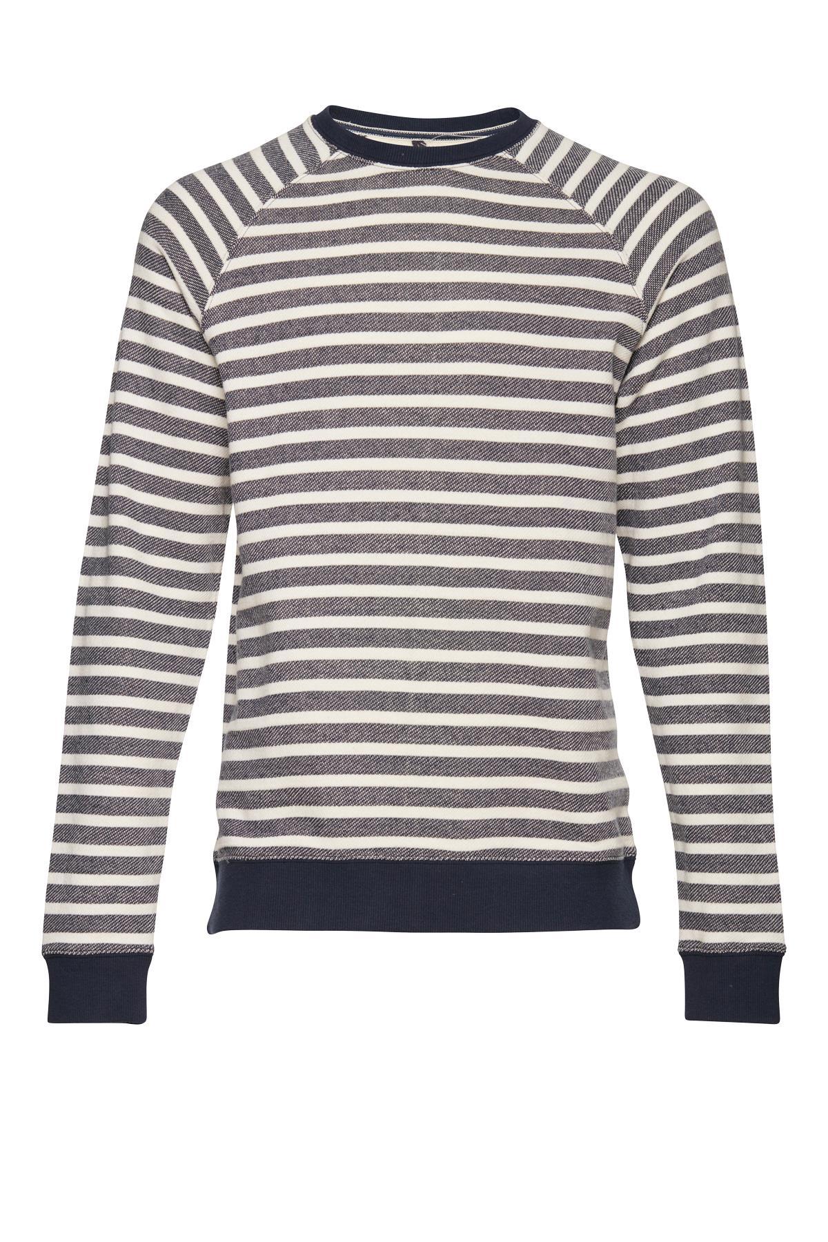 Marineblå/hvid Sweatshirt – Køb Marineblå/hvid Sweatshirt fra str. S-XL her