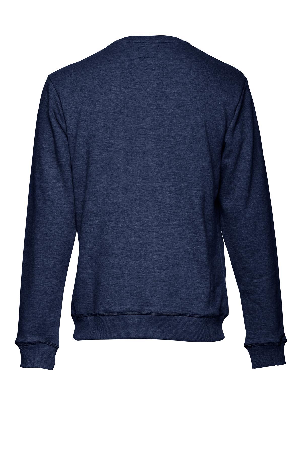 Marineblå Sweatshirt – Køb Marineblå Sweatshirt fra str. S-XL her