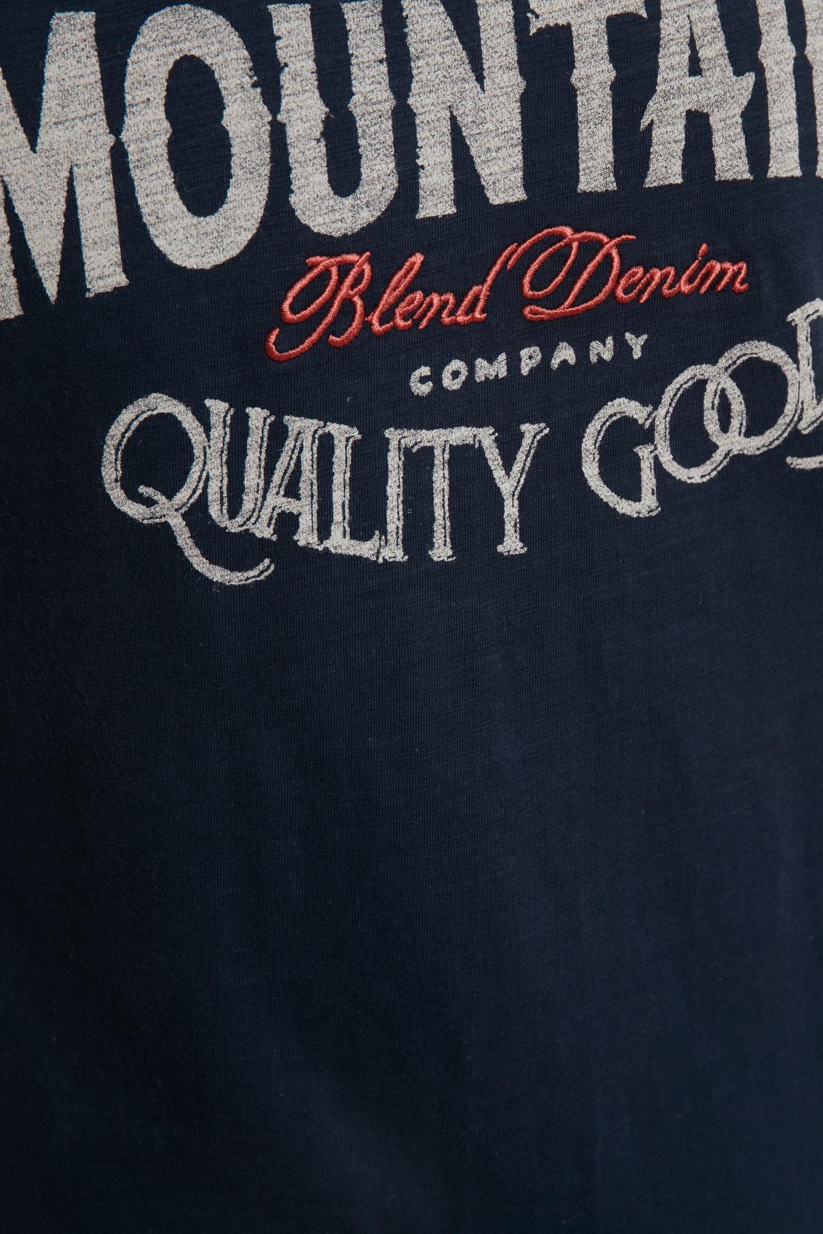 Marineblå T-shirt – Køb Marineblå T-shirt fra str. S-XL her