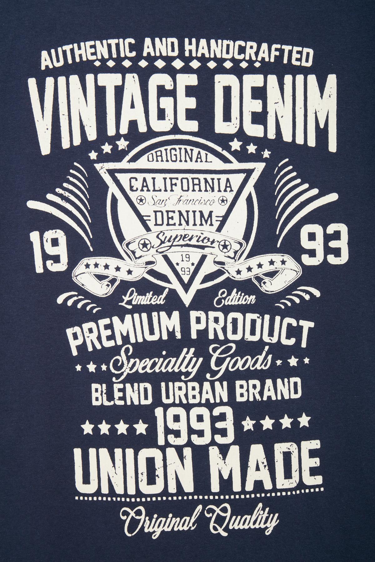 Mørk indigoblå T-shirt – Køb Mørk indigoblå T-shirt fra str. S-XXL her
