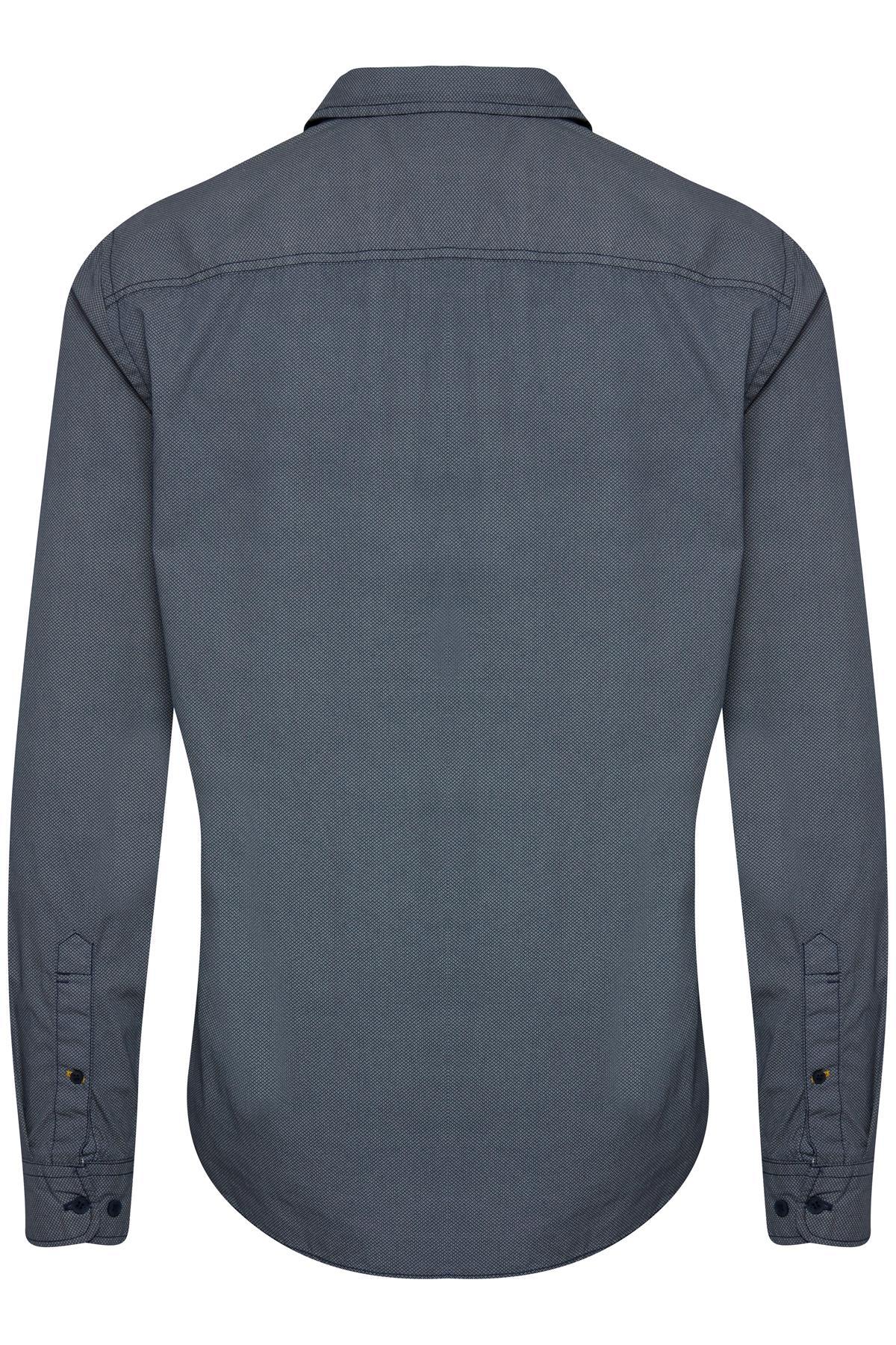 Mood Indigo Blue Long sleeved shirt fra Blend He – Køb Mood Indigo Blue Long sleeved shirt fra str. S-XXL her