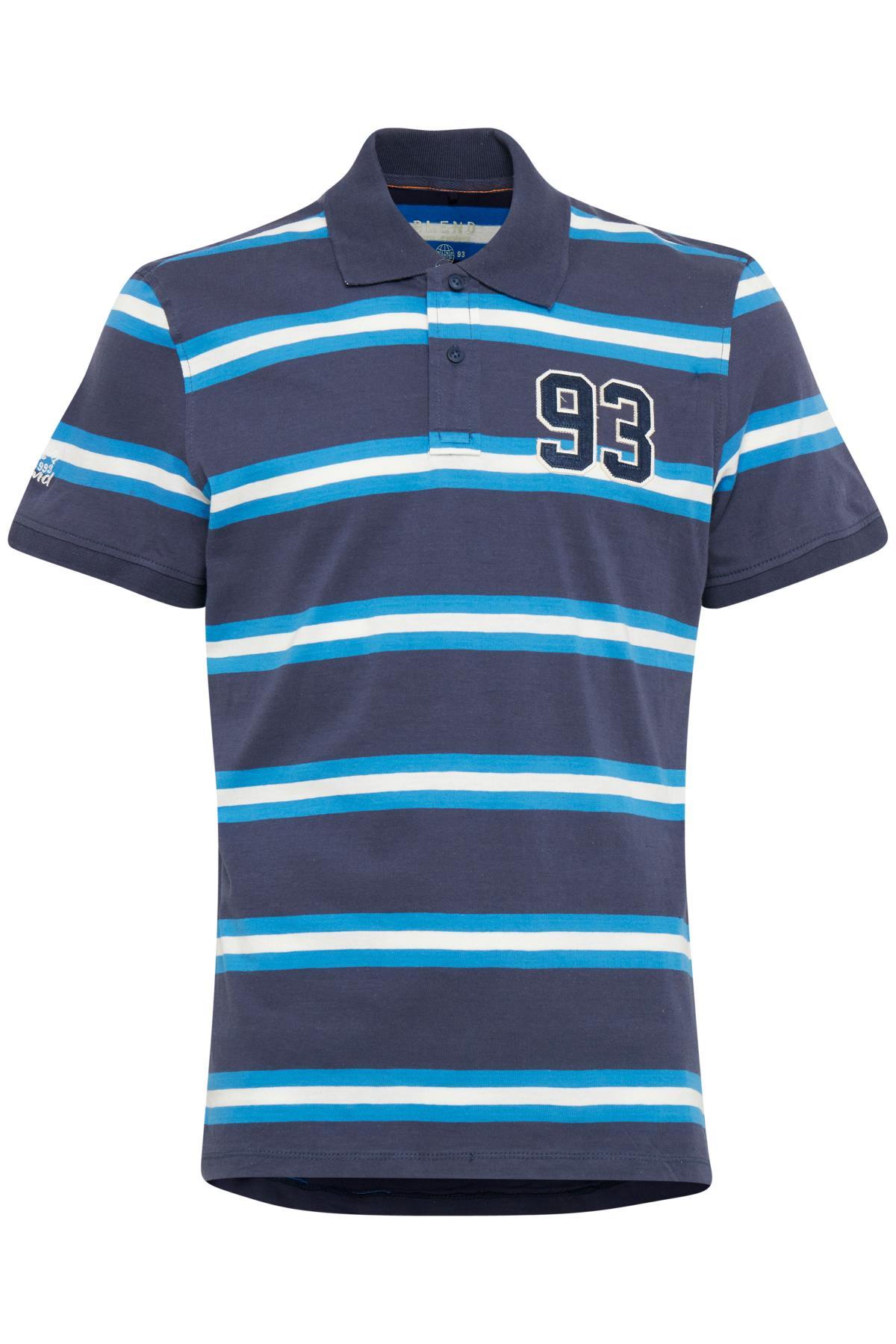Mood Indigo Blue Polo-shirt – Køb Mood Indigo Blue Polo-shirt fra str. S-XXL her