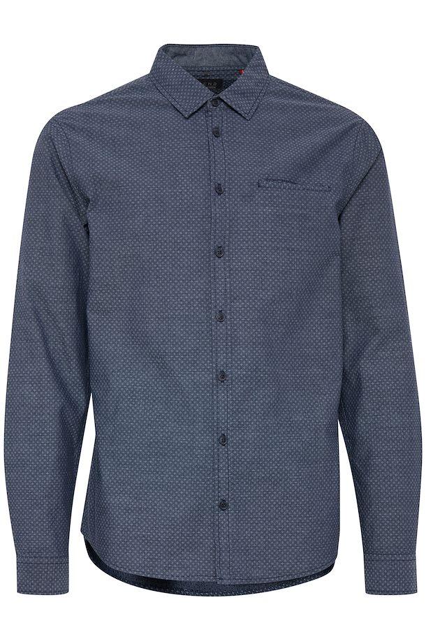 b401fa427c0 Navy Langærmet skjorte – Køb Navy Langærmet skjorte fra str. S-XXL her