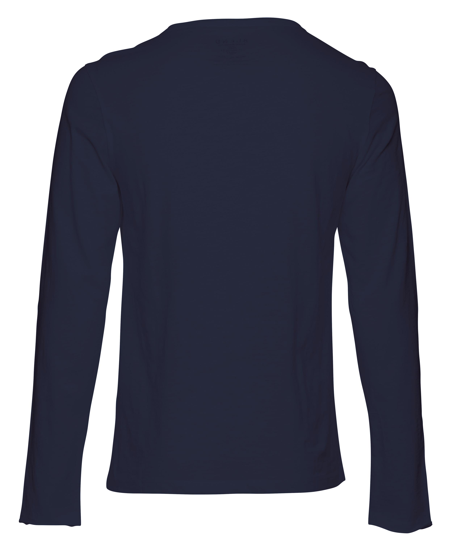 Navy Langærmet T-shirt – Køb Navy Langærmet T-shirt fra str. S-3XL her