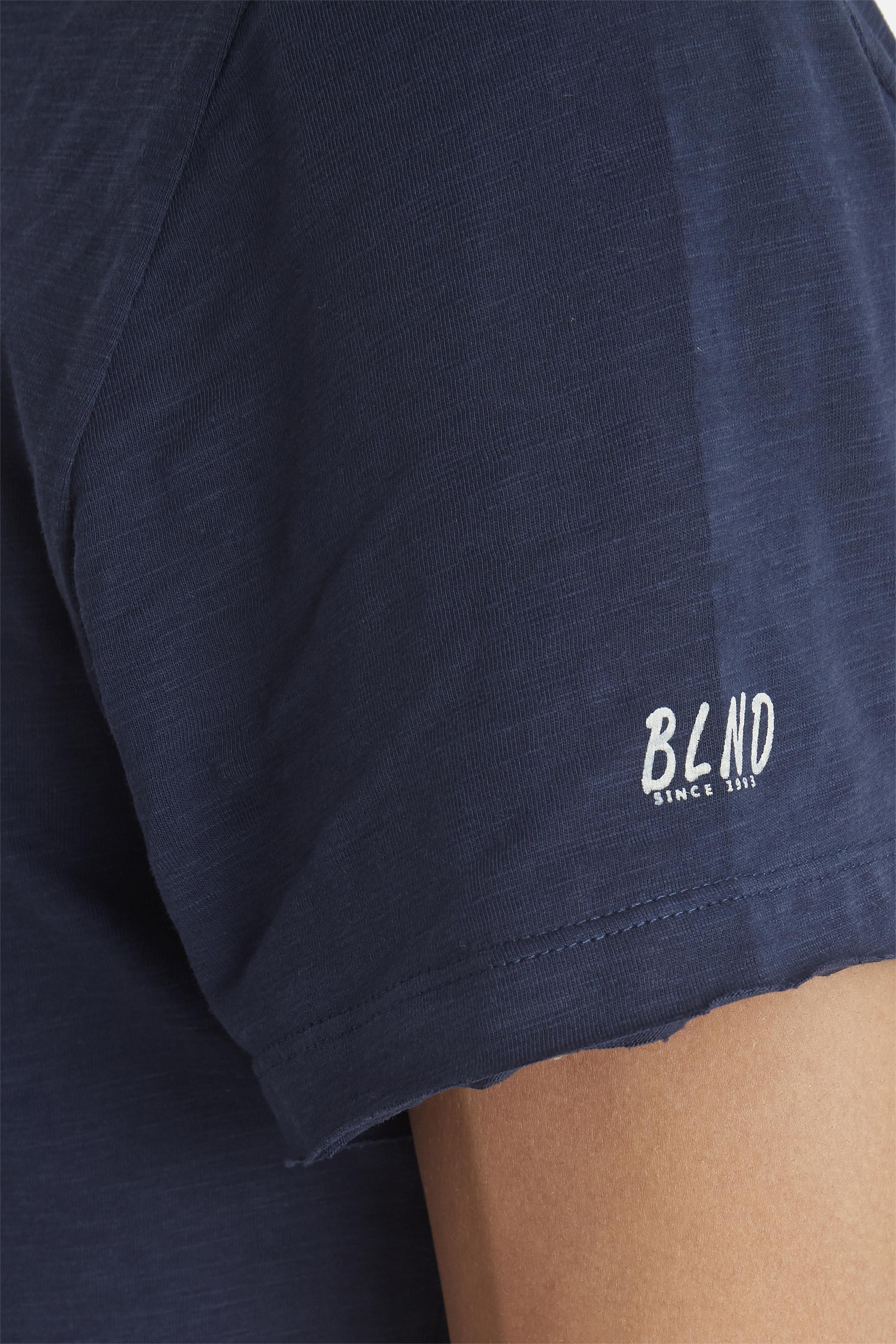 Navy T-shirt fra Blend He – Køb Navy T-shirt fra str. S-3XL her