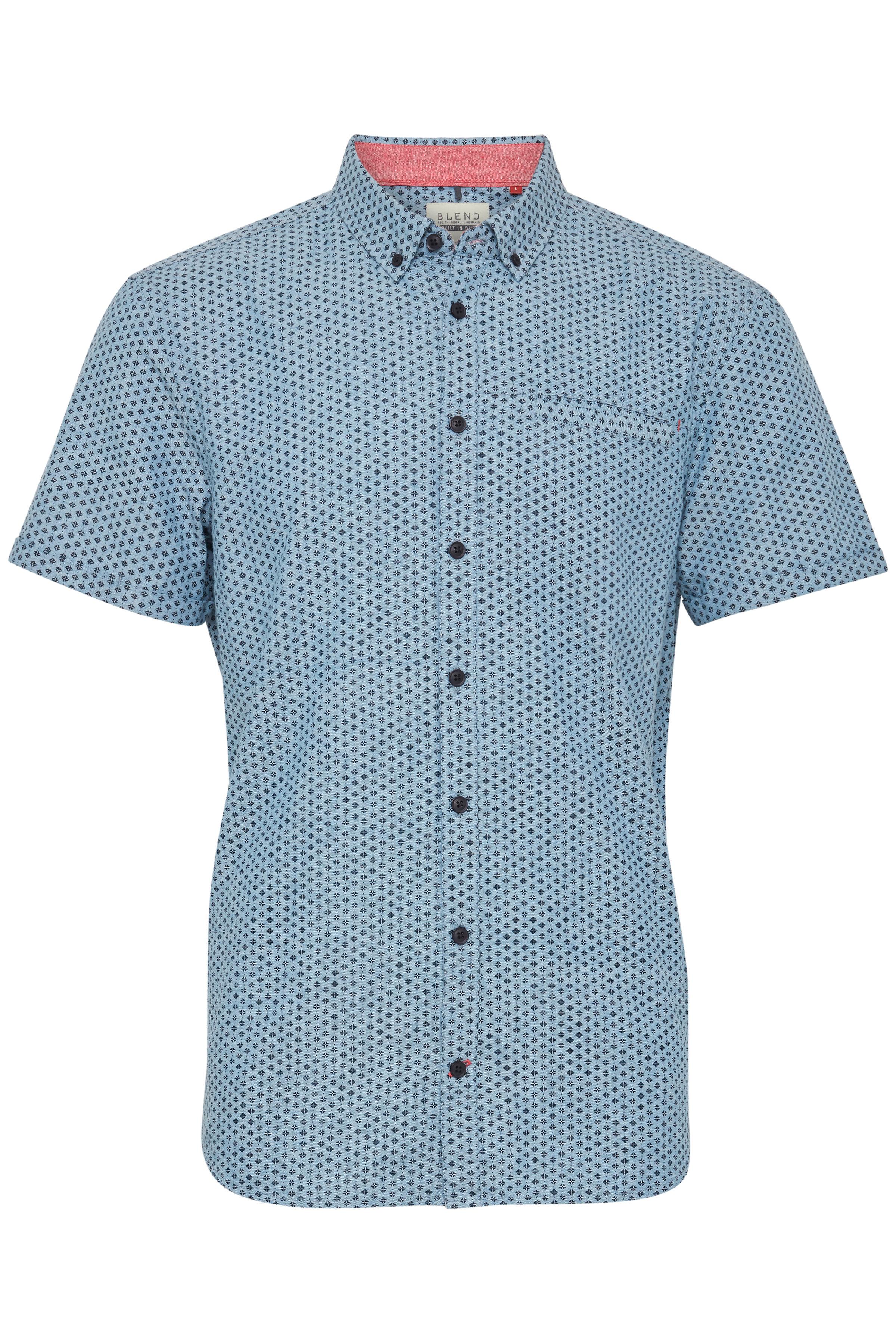 Niagara Blue Shirt fra Blend He – Køb Niagara Blue Shirt fra str. S-XXL her