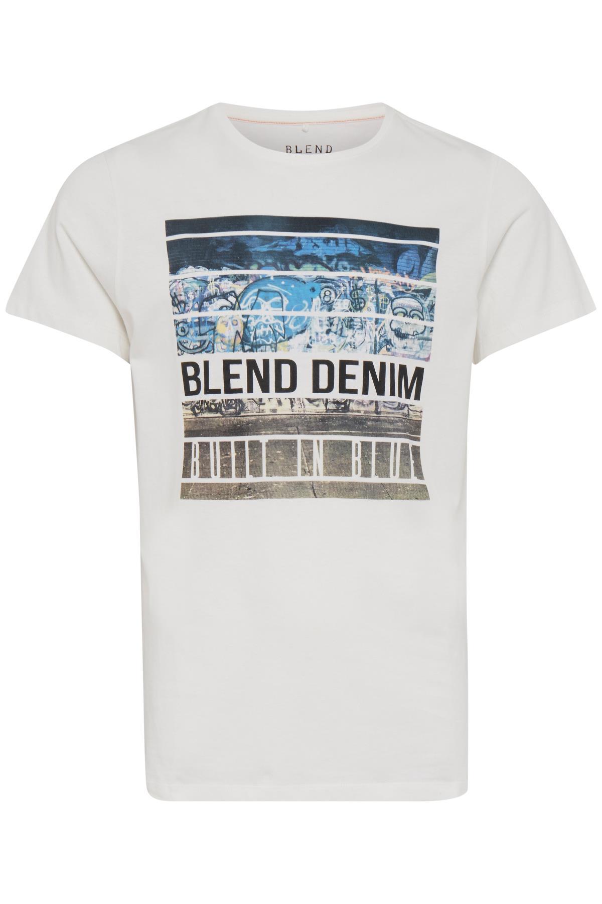 Offwhite T-shirt fra Blend He – Køb Offwhite T-shirt fra str. S-XXL her