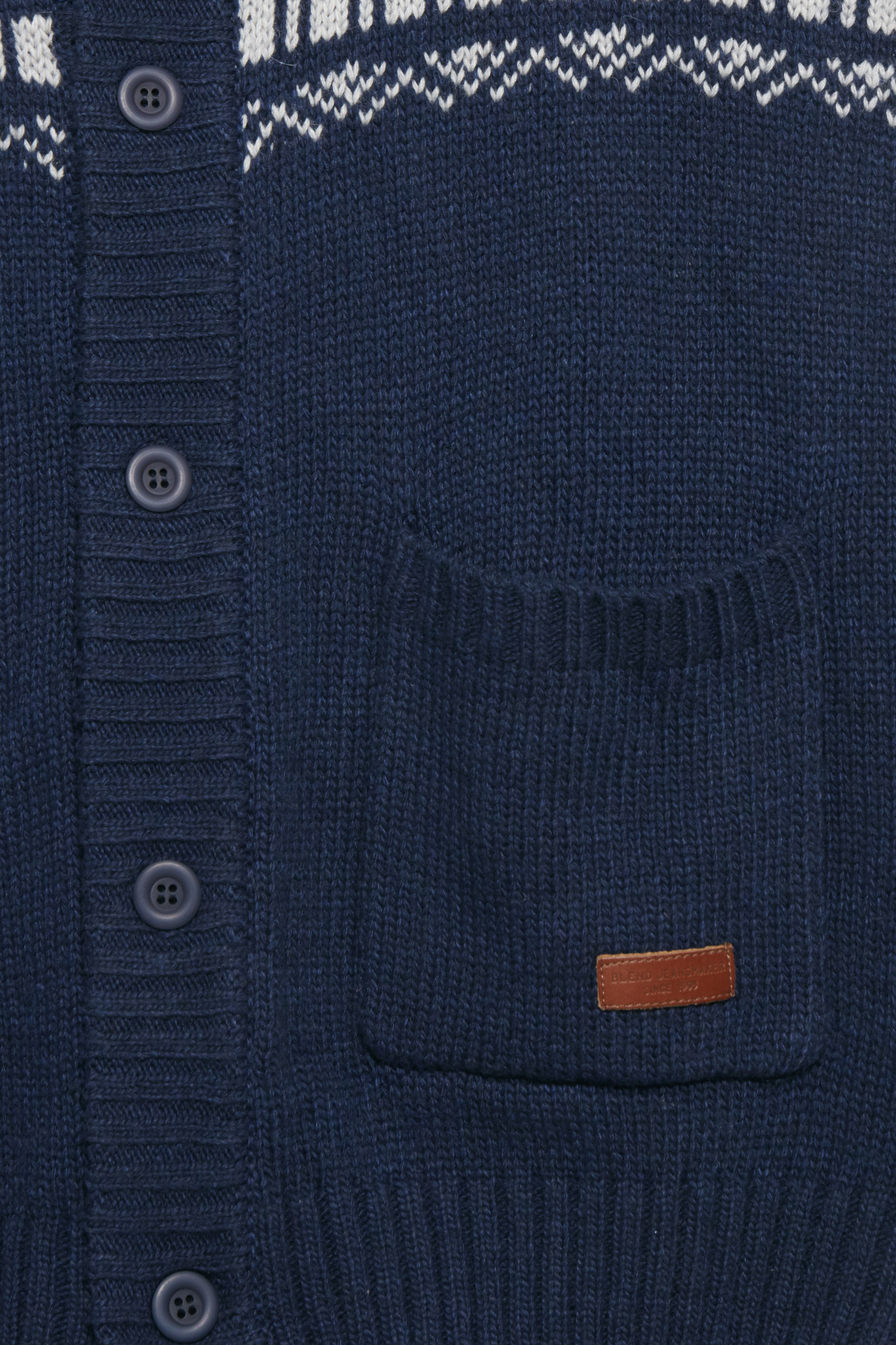Peacoat Blue Strikcardigan – Køb Peacoat Blue Strikcardigan fra str. S-XXL her