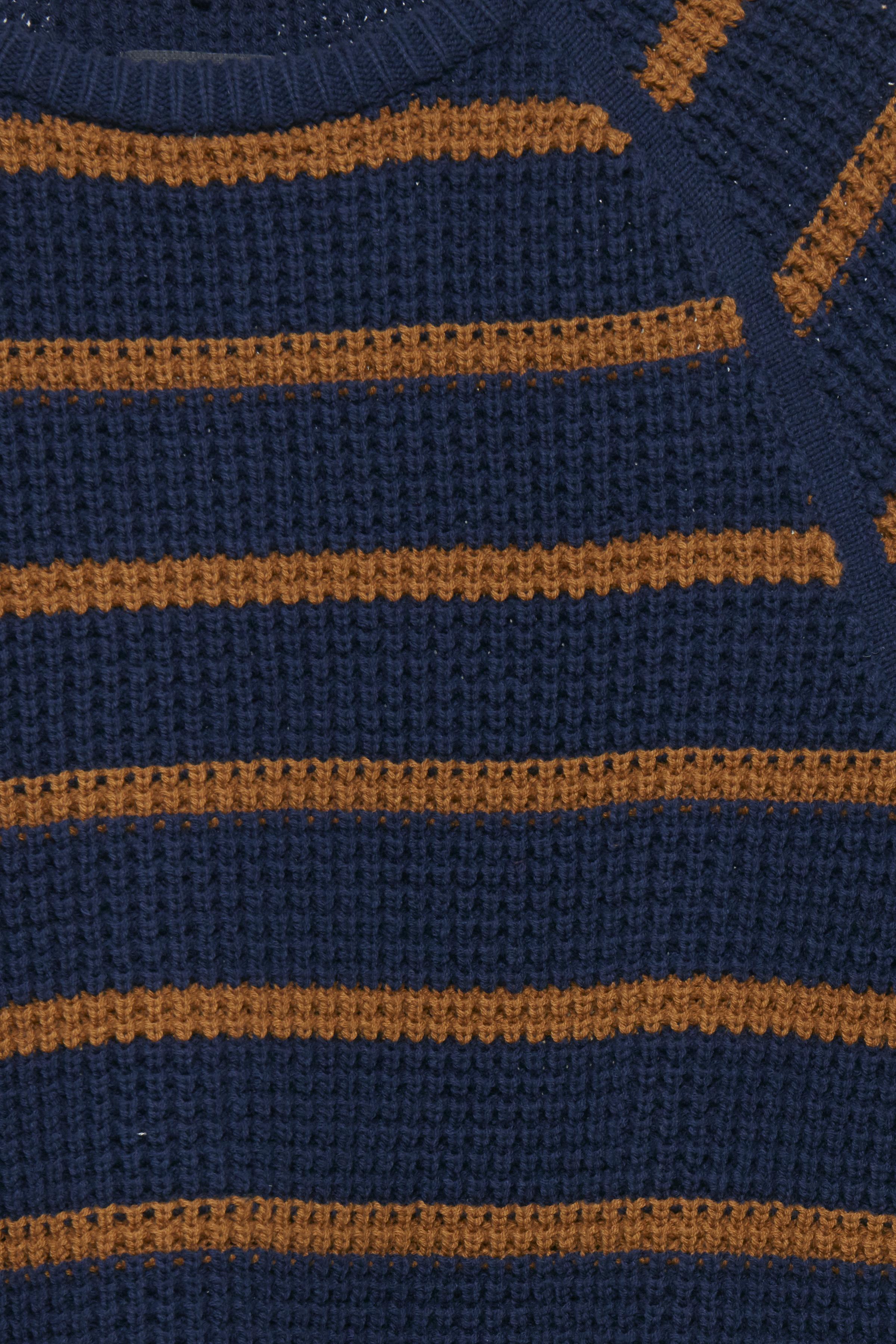 Peacoat Blue Strikpullover – Køb Peacoat Blue Strikpullover fra str. S-XXL her