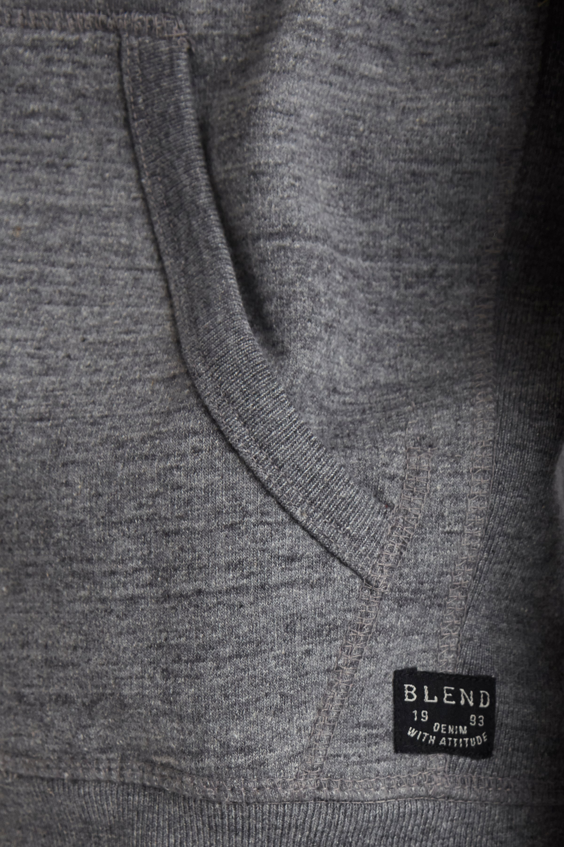 Pewter mix Hooded blouse with zipper fra Blend He – Køb Pewter mix Hooded blouse with zipper fra str. S-3XL her