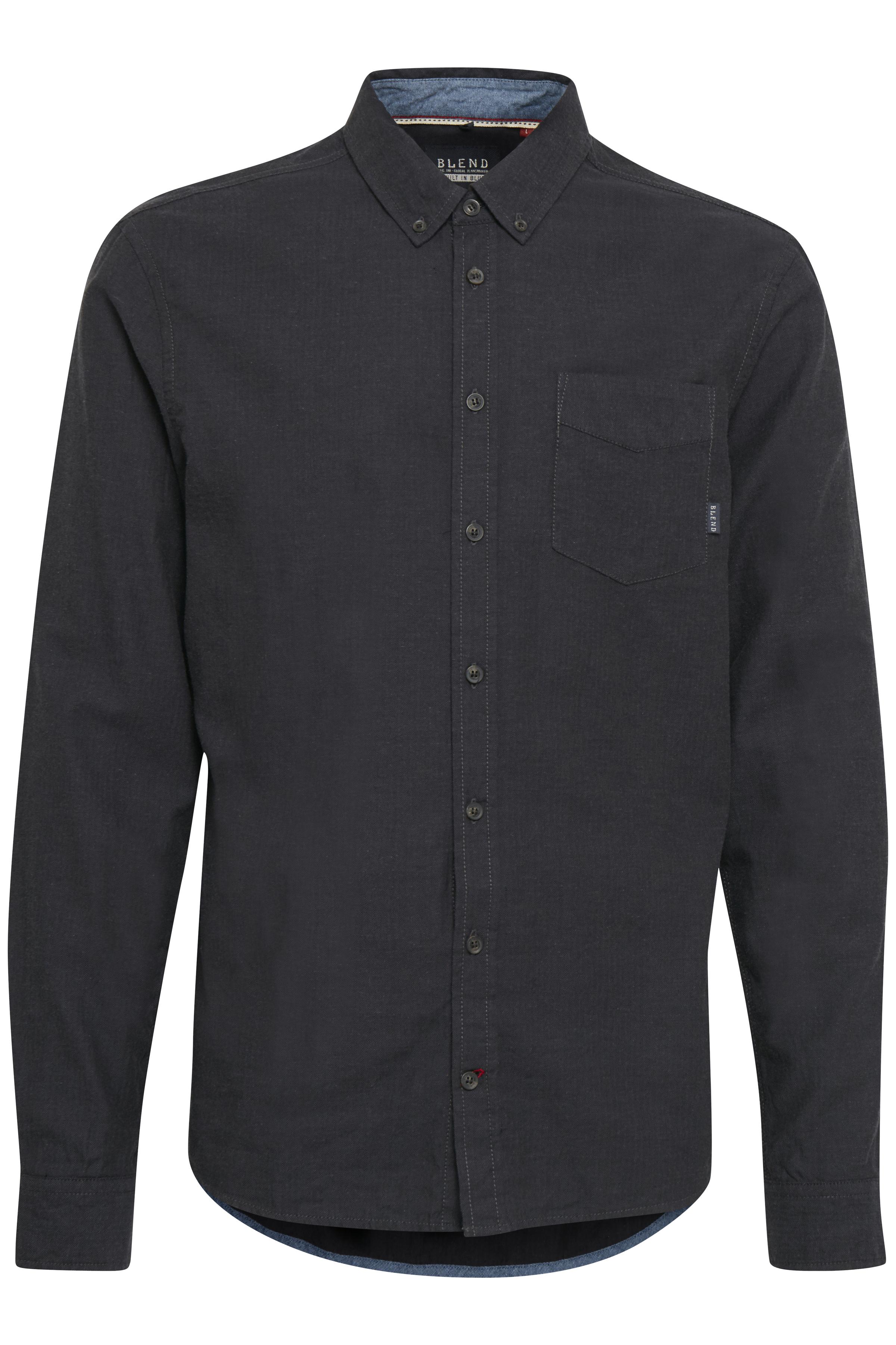 Phantom grey Langærmet skjorte – Køb Phantom grey Langærmet skjorte fra str. S-XXL her