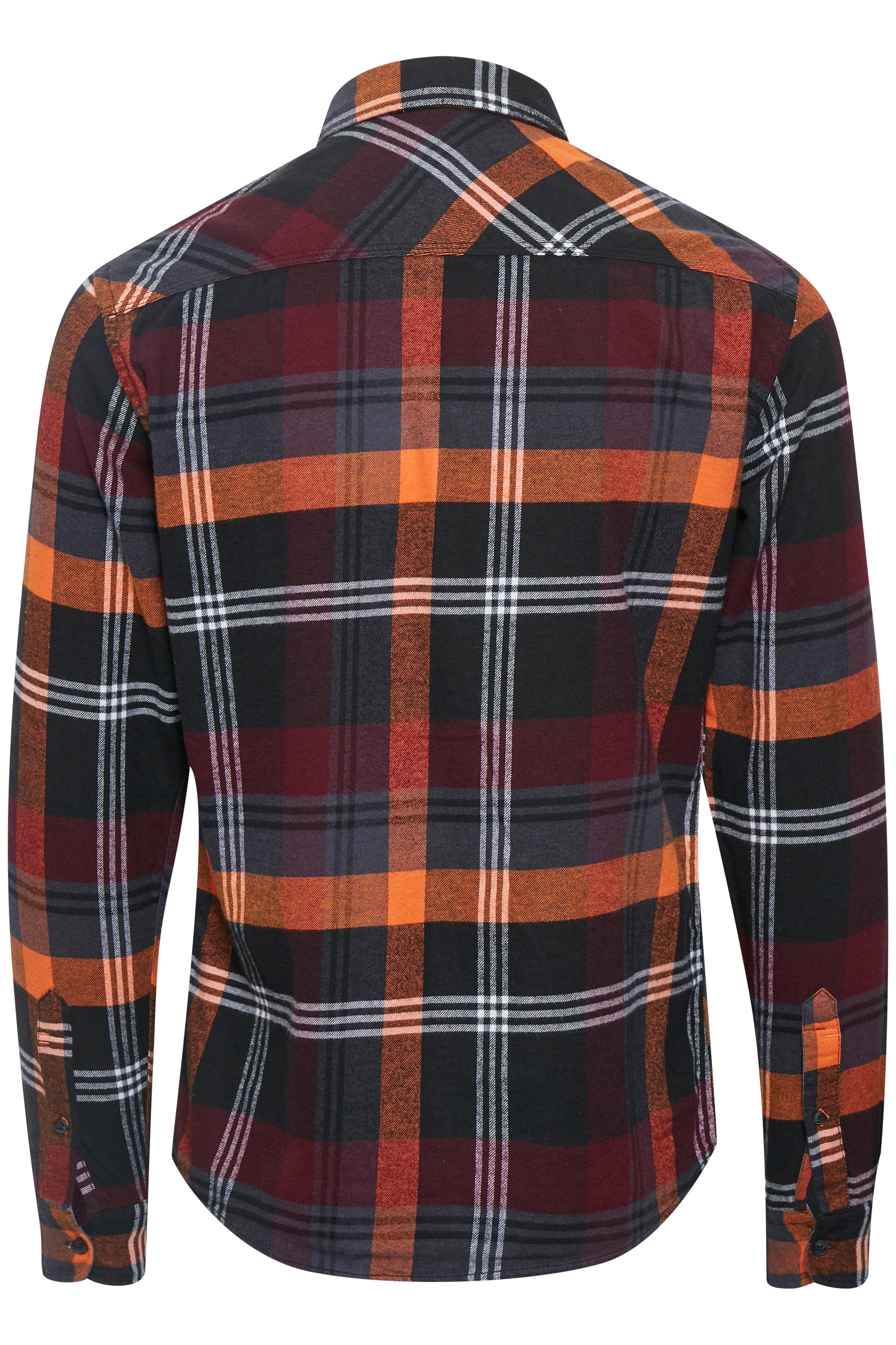 Red orange Long sleeved shirt fra Blend He – Køb Red orange Long sleeved shirt fra str. S-XXL her