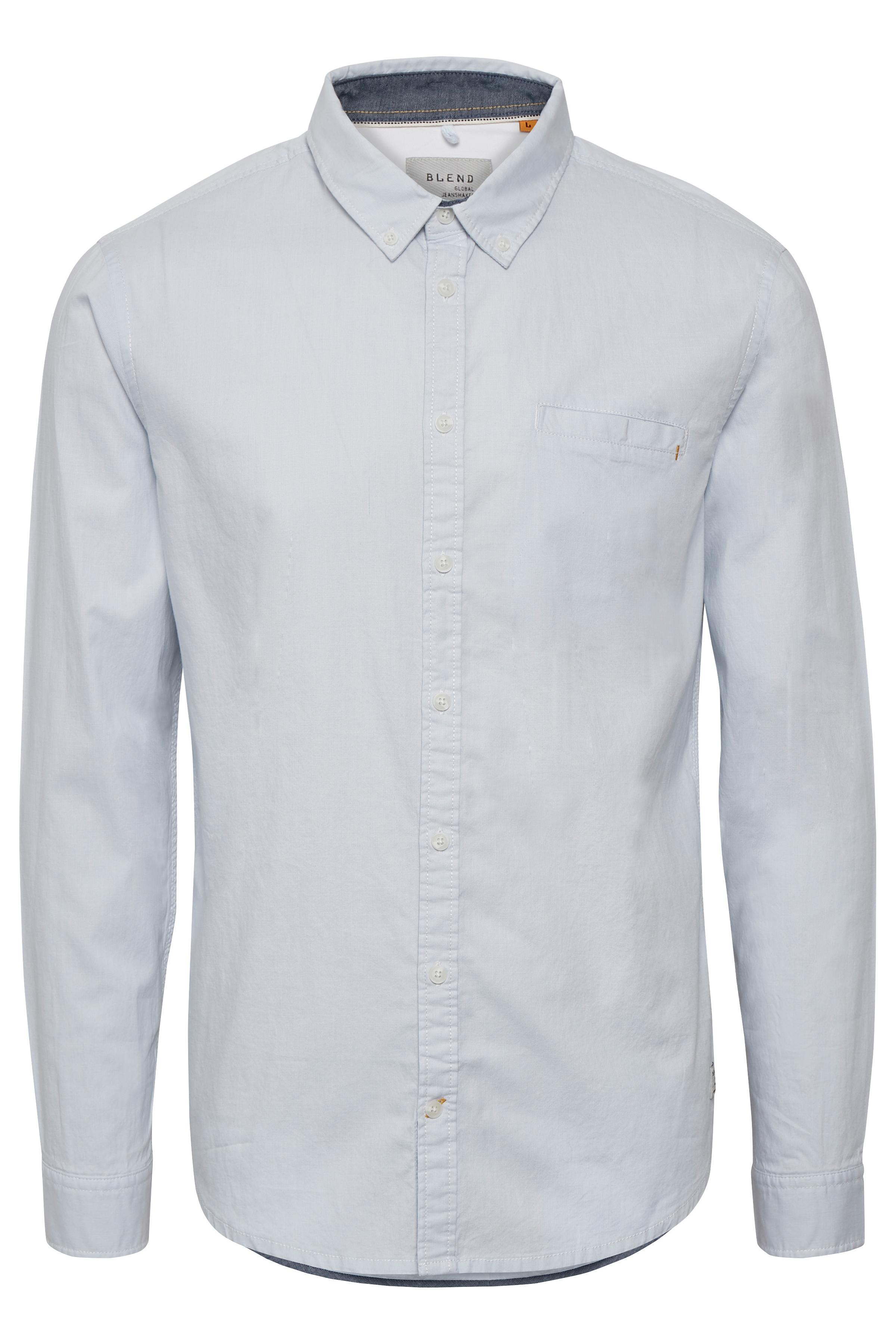Soft Blue Long sleeved shirt fra Blend He – Køb Soft Blue Long sleeved shirt fra str. S-XXL her