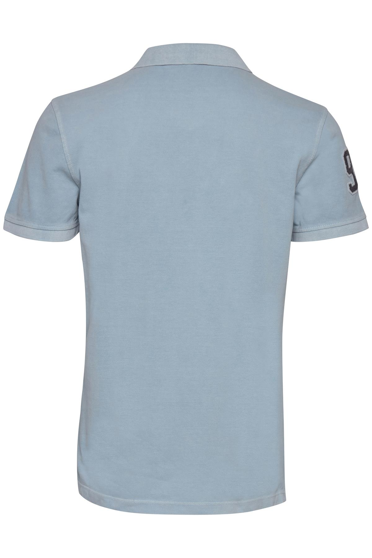 Soft Blue Polo shirt fra Blend He – Køb Soft Blue Polo shirt fra str. S-XXL her