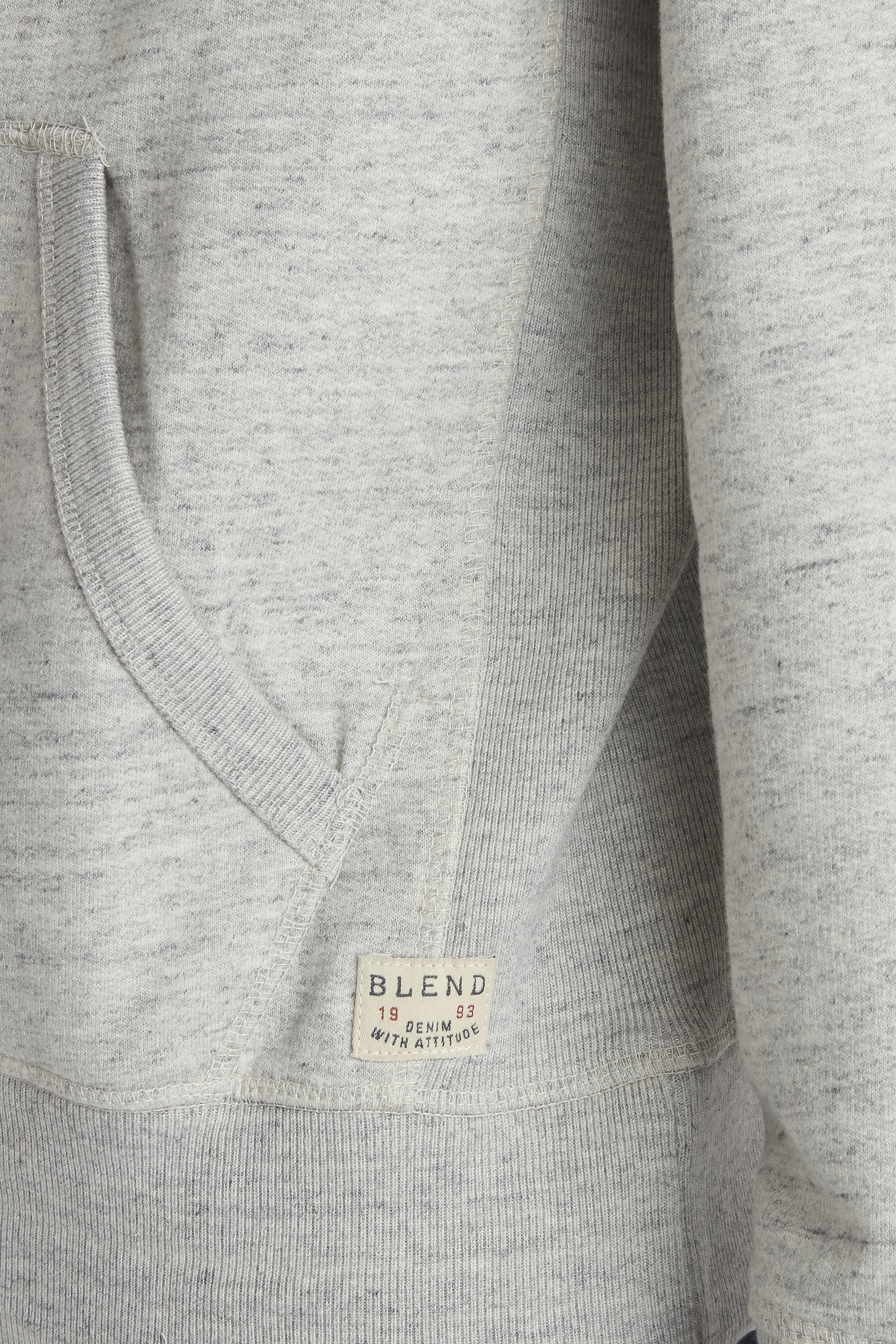 Stone mix Hooded blouse with zipper fra Blend He – Køb Stone mix Hooded blouse with zipper fra str. S-3XL her