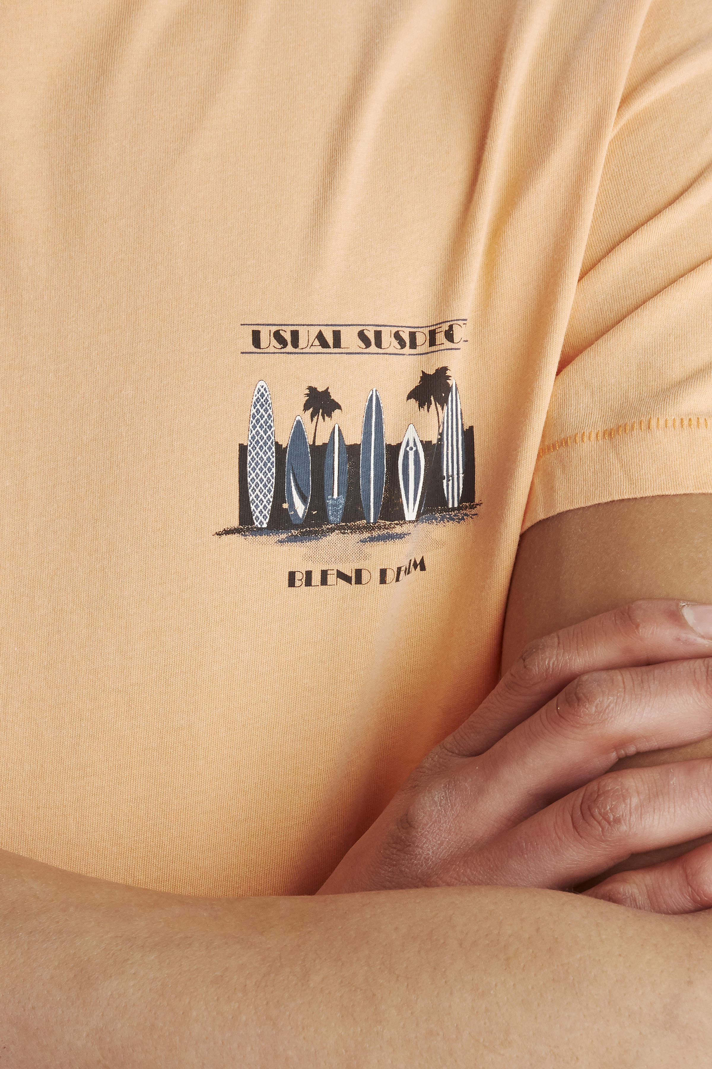 Sun Orange T-shirt – Køb Sun Orange T-shirt fra str. S-XL her