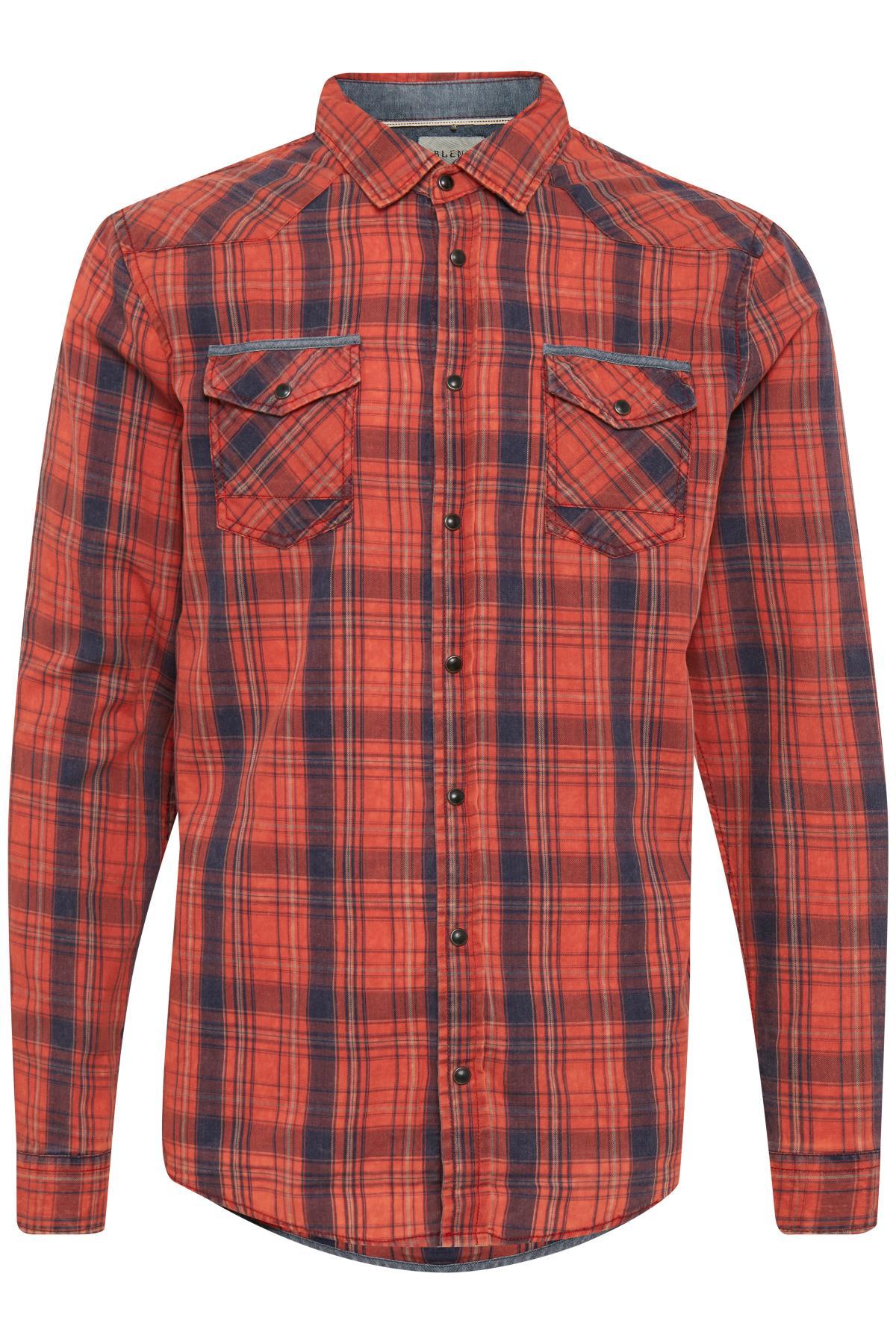Tandori Red Long sleeved shirt fra Blend He – Køb Tandori Red Long sleeved shirt fra str. S-XXL her