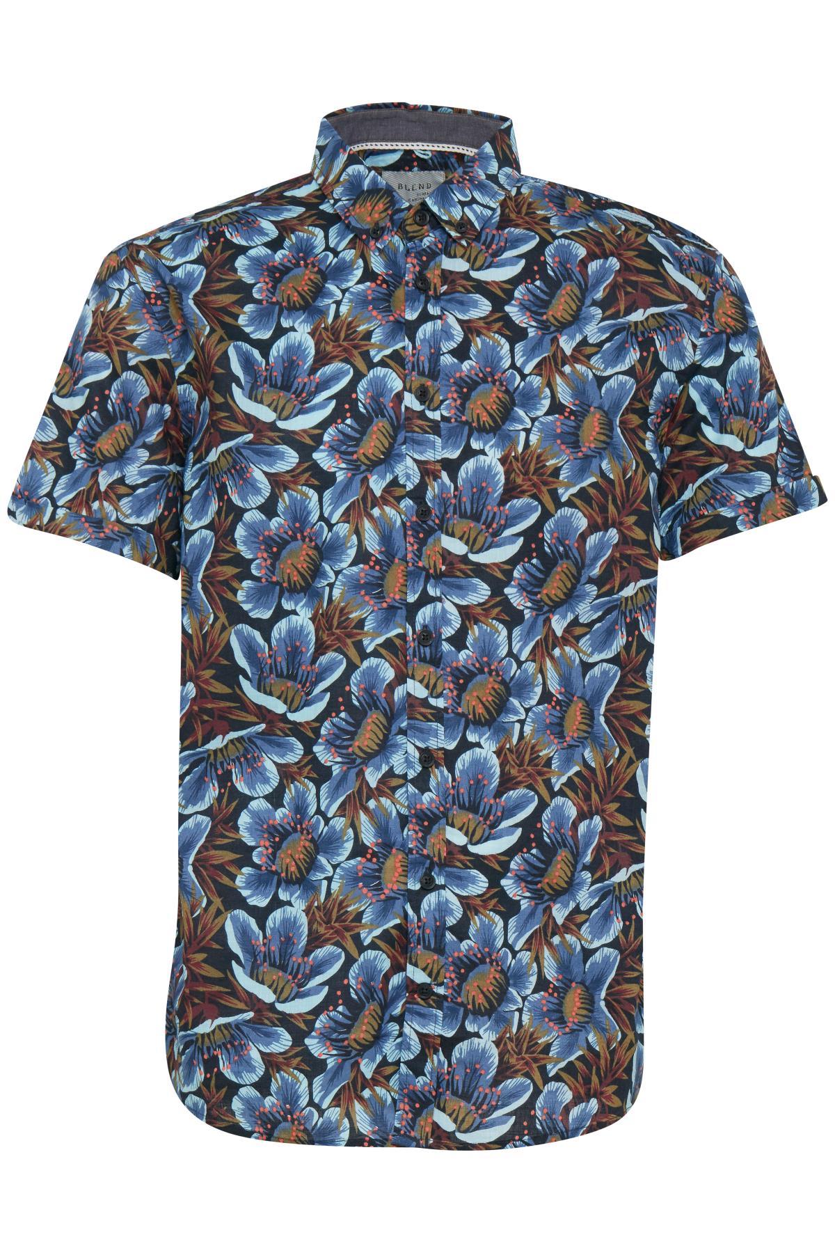 Turquoise Blue Shirt fra Blend He – Køb Turquoise Blue Shirt fra str. M-XXL her