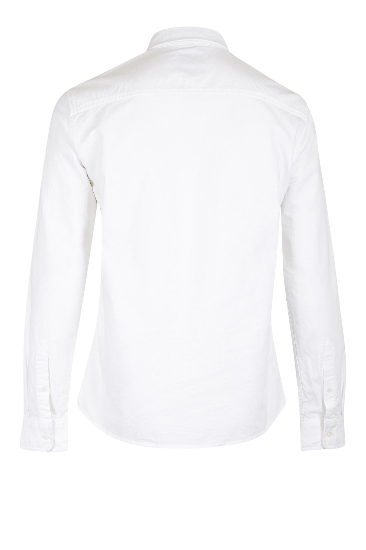 White Langærmet skjorte – Køb White Langærmet skjorte fra str. S-XXXL her