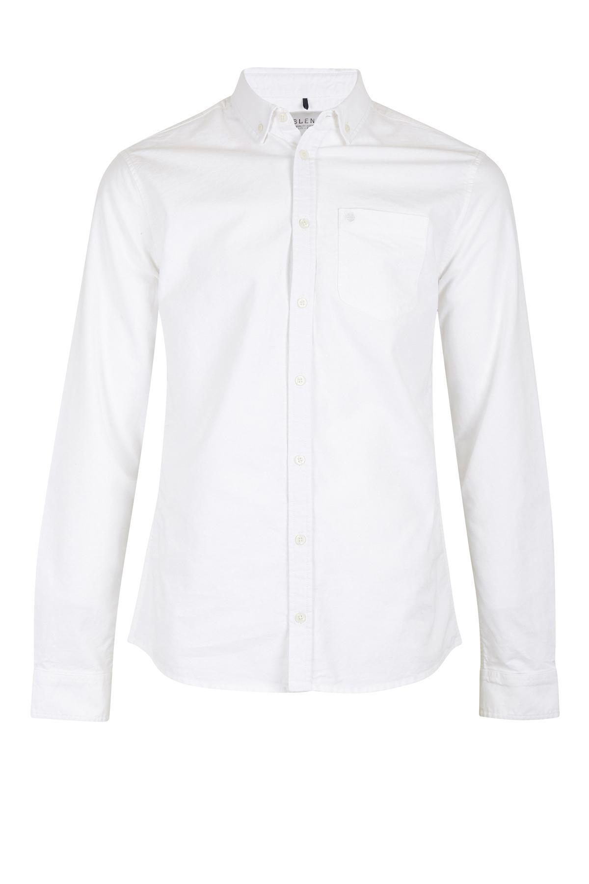 White Long sleeved shirt fra Blend He – Køb White Long sleeved shirt fra str. S-XXXL her