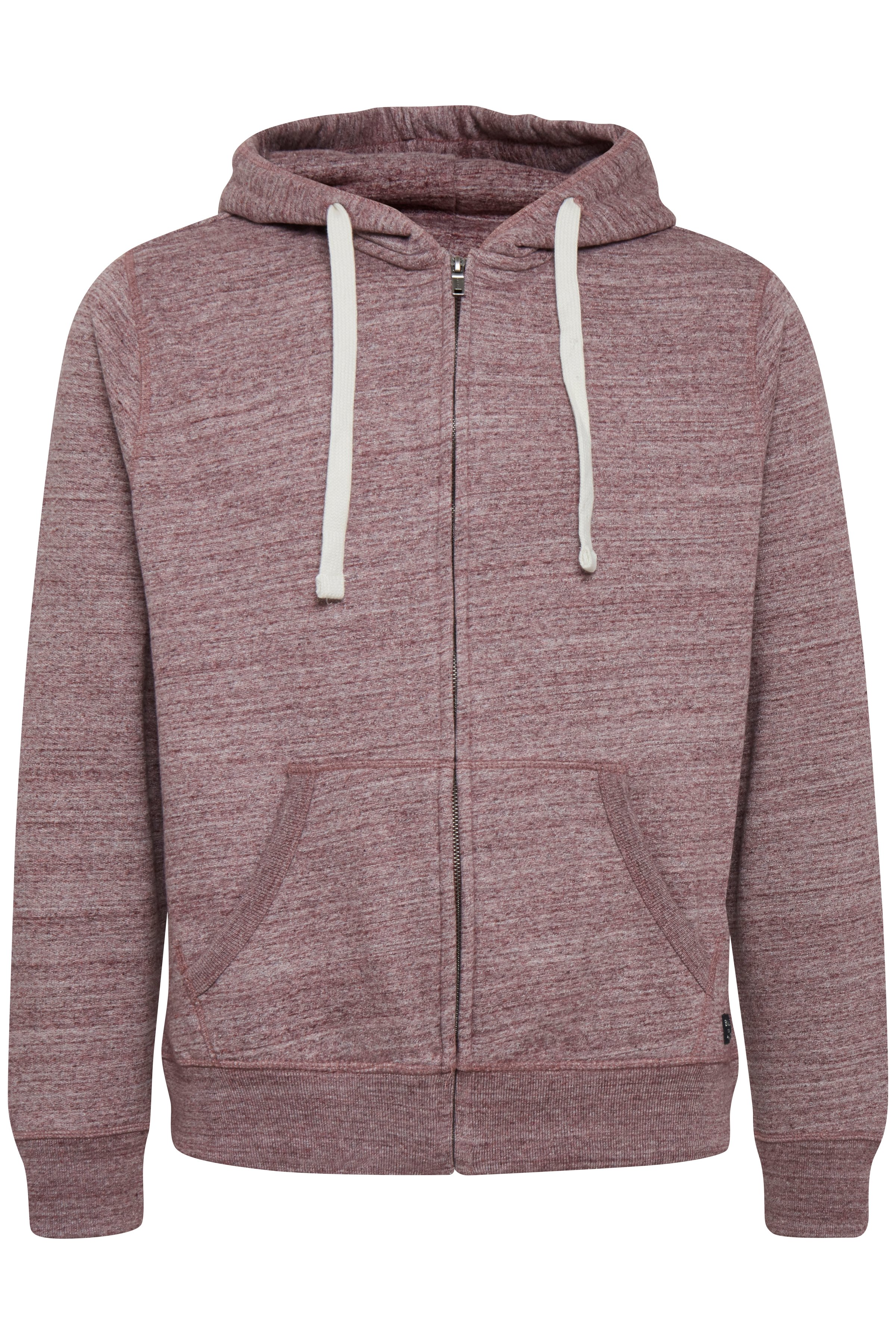 Wine red Hooded blouse with zipper fra Blend He – Køb Wine red Hooded blouse with zipper fra str. S-3XL her