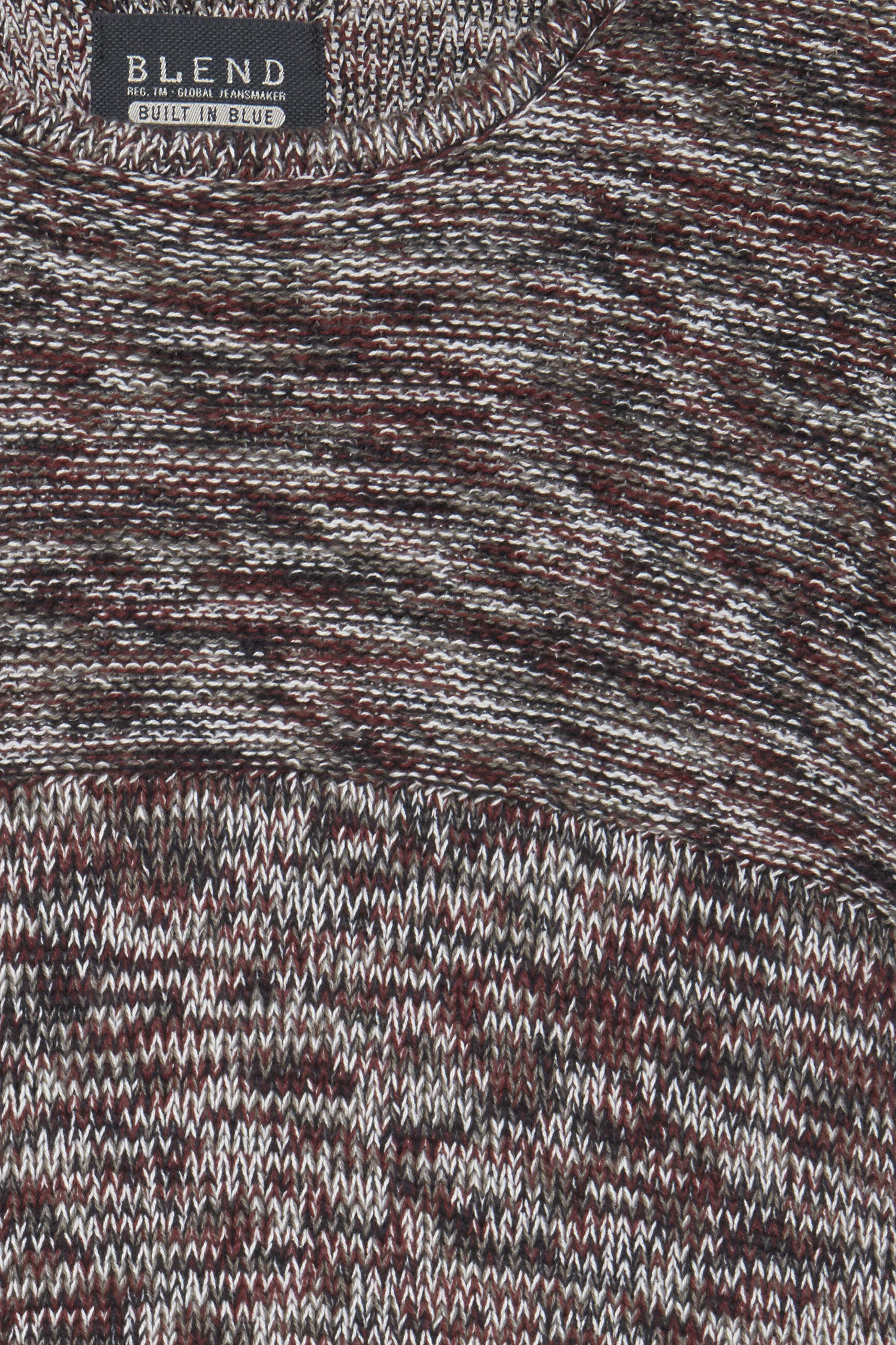 Wine red Strikpullover – Køb Wine red Strikpullover fra str. S-3XL her